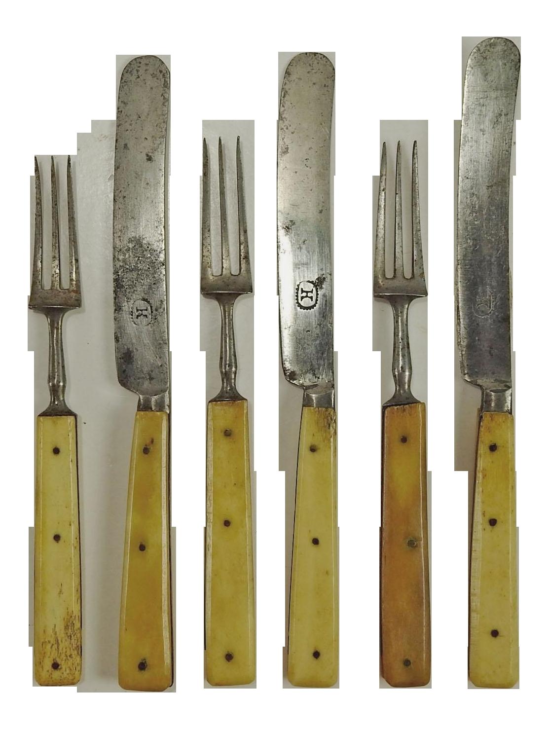 1860 S Small Bone Handled Flatware S 6 Chairish