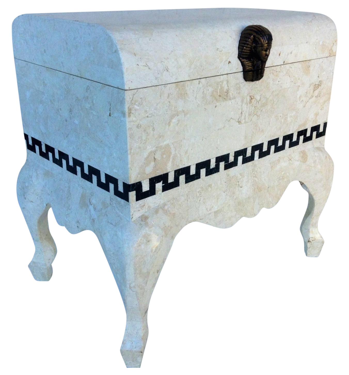 Maitland Smith Tessellated Footed Standing Chest Chairish