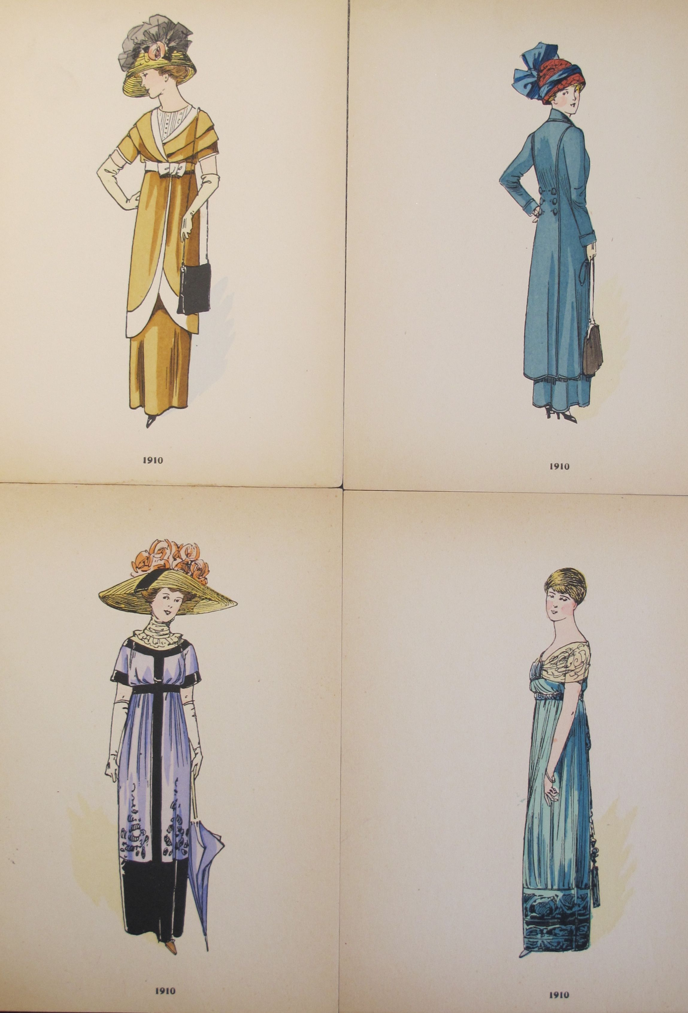 Original 1910 French Fashion Plates Set Of 4 Chairish