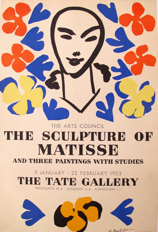 1953 Original Matisse Exhibition Poster Chairish