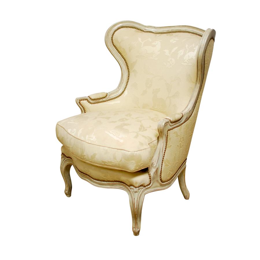 Bergere chair and ottoman - Bergere Chair And Ottoman 50