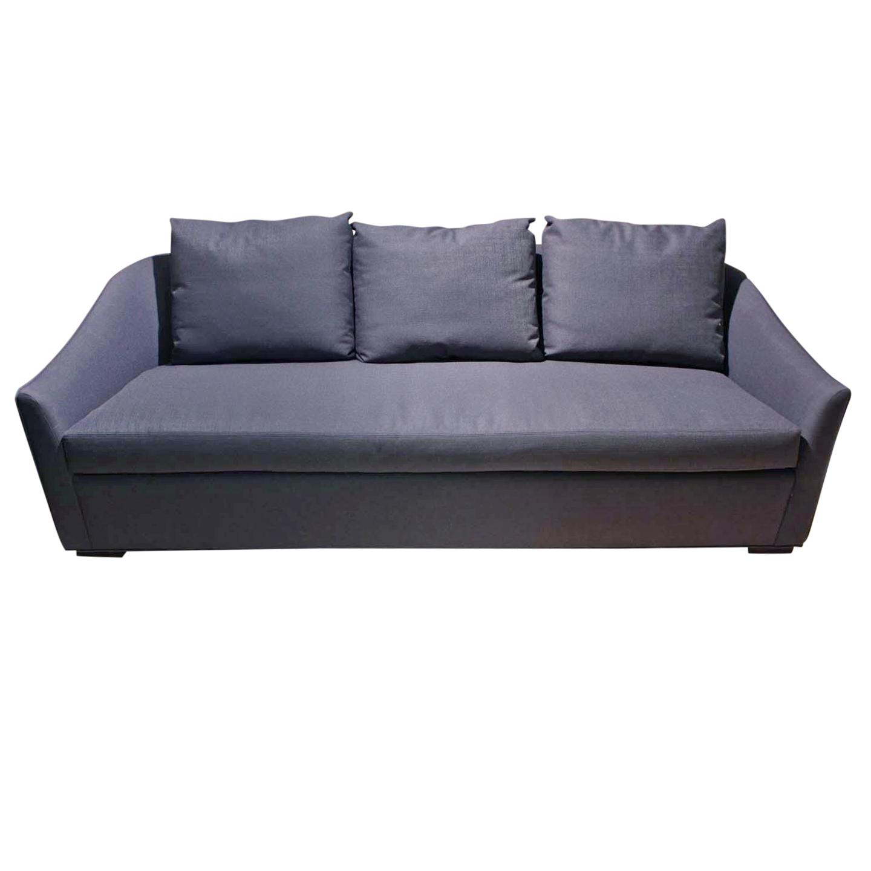 Mcguire Copa 96 Quot Navy Blue Sofa Chairish