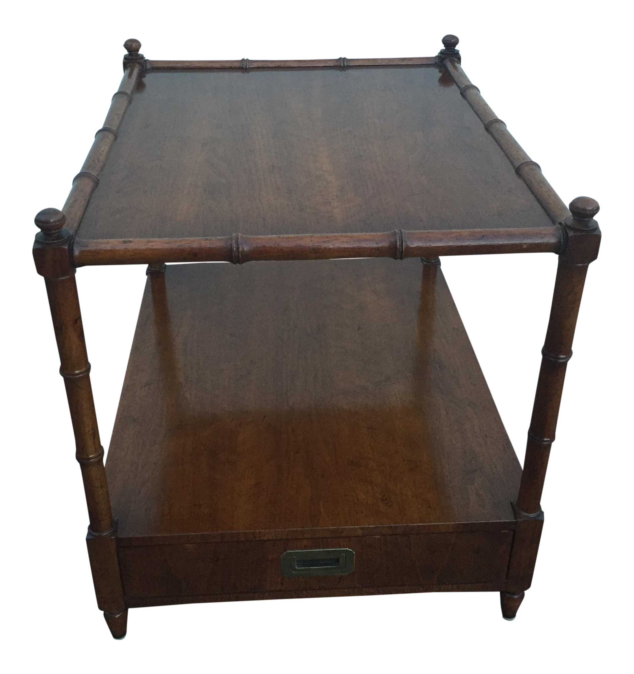 Vintage henredon wood faux bamboo end tablenightstand chairish geotapseo Image collections