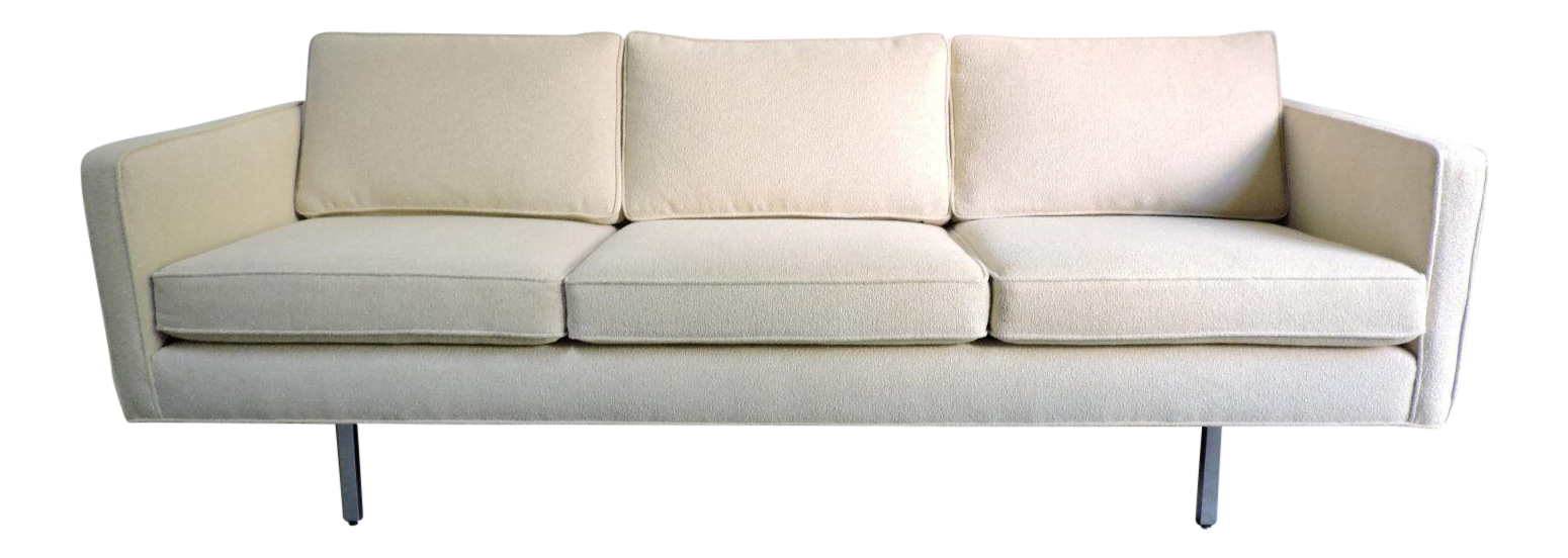 Milo Baughman for Thayer Coggin Tuxedo Sofa Chairish