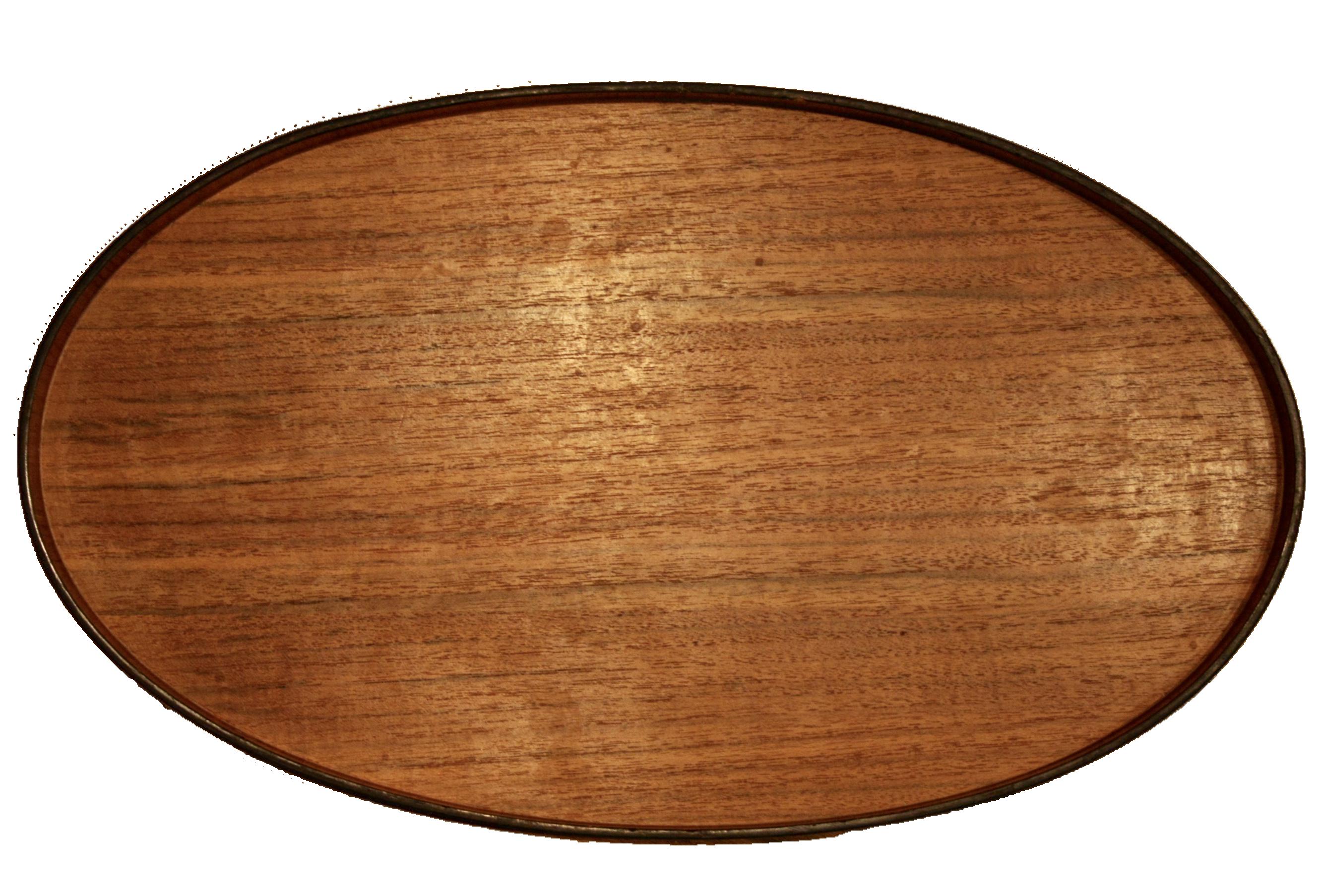 Danish Modern Oversized Teak Oval Tray