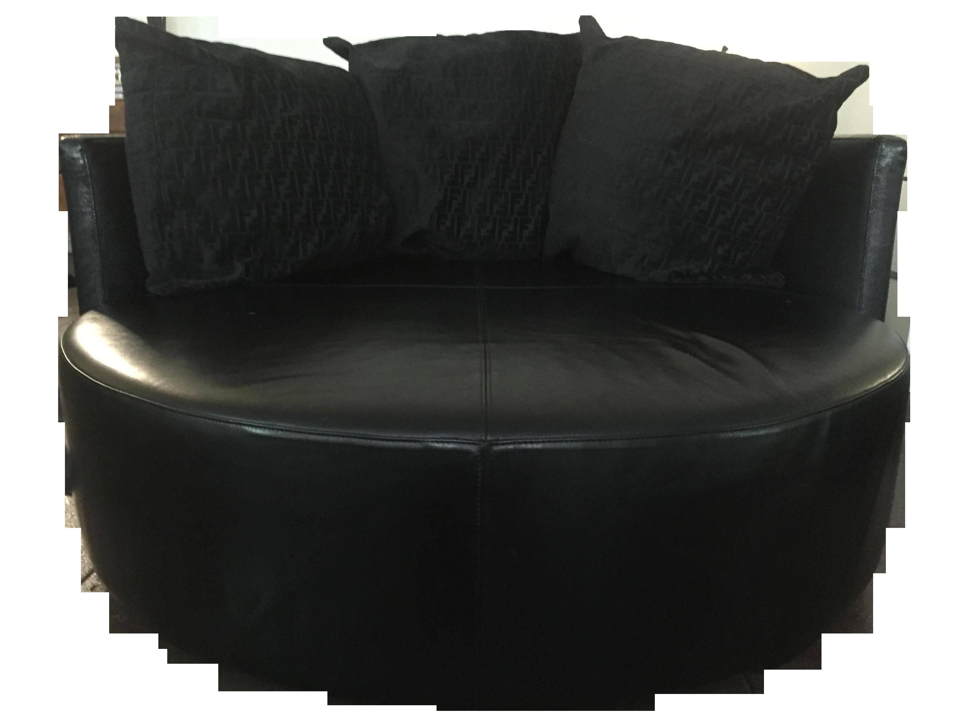 Fendi Casa Black Stingray Leather Circular Sofa Chairish