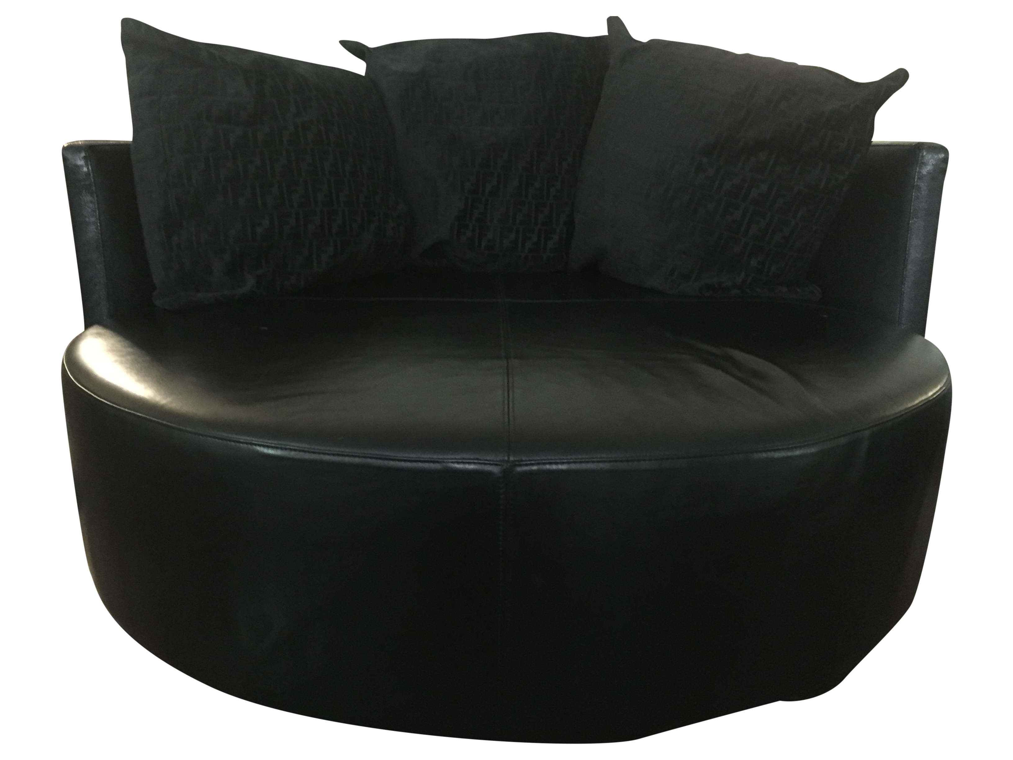 Fendi Casa Black Stingray Leather Circular Sofa Chairish