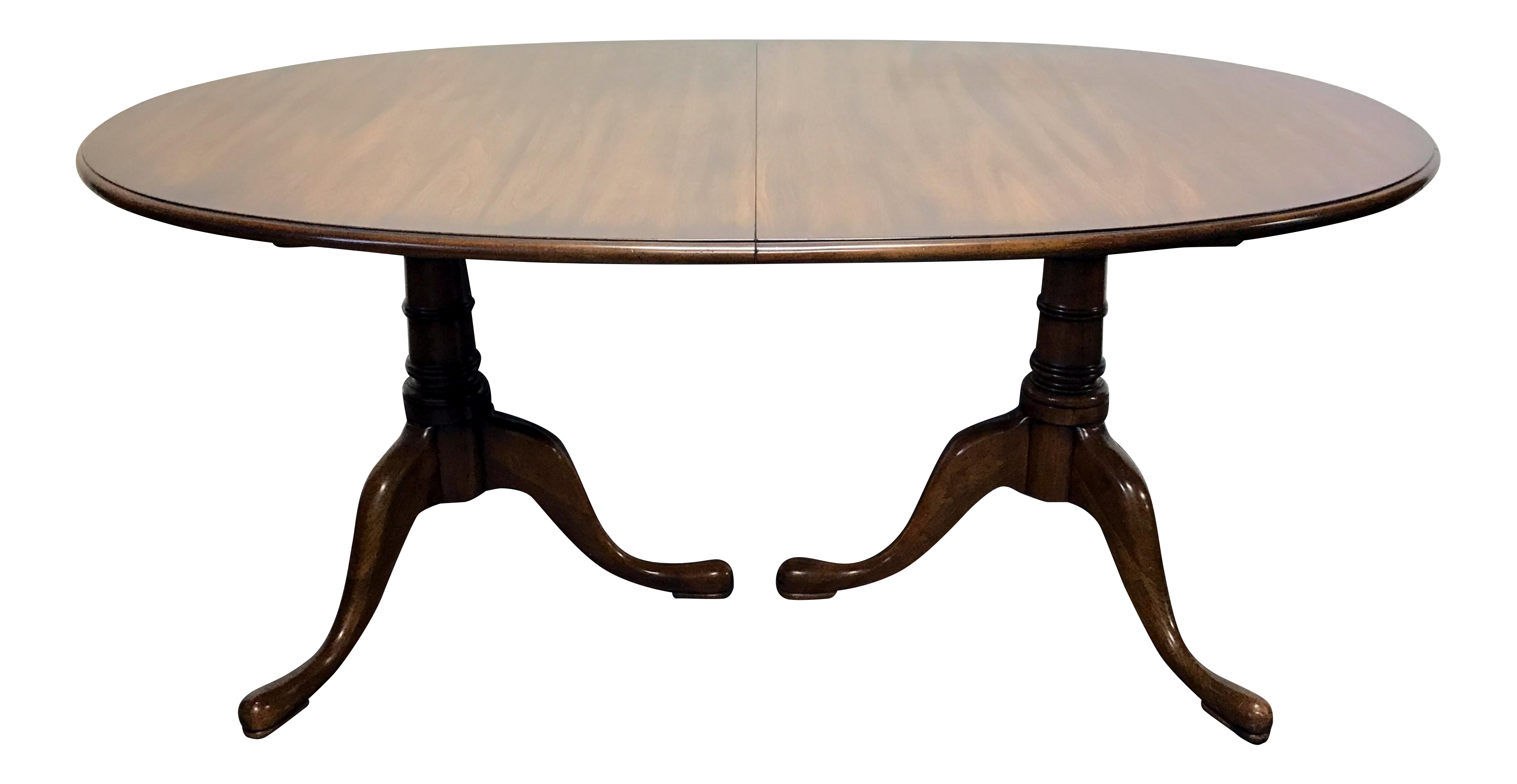 STATTON Oxford Antique Cherry Double Pedestal Dining Table