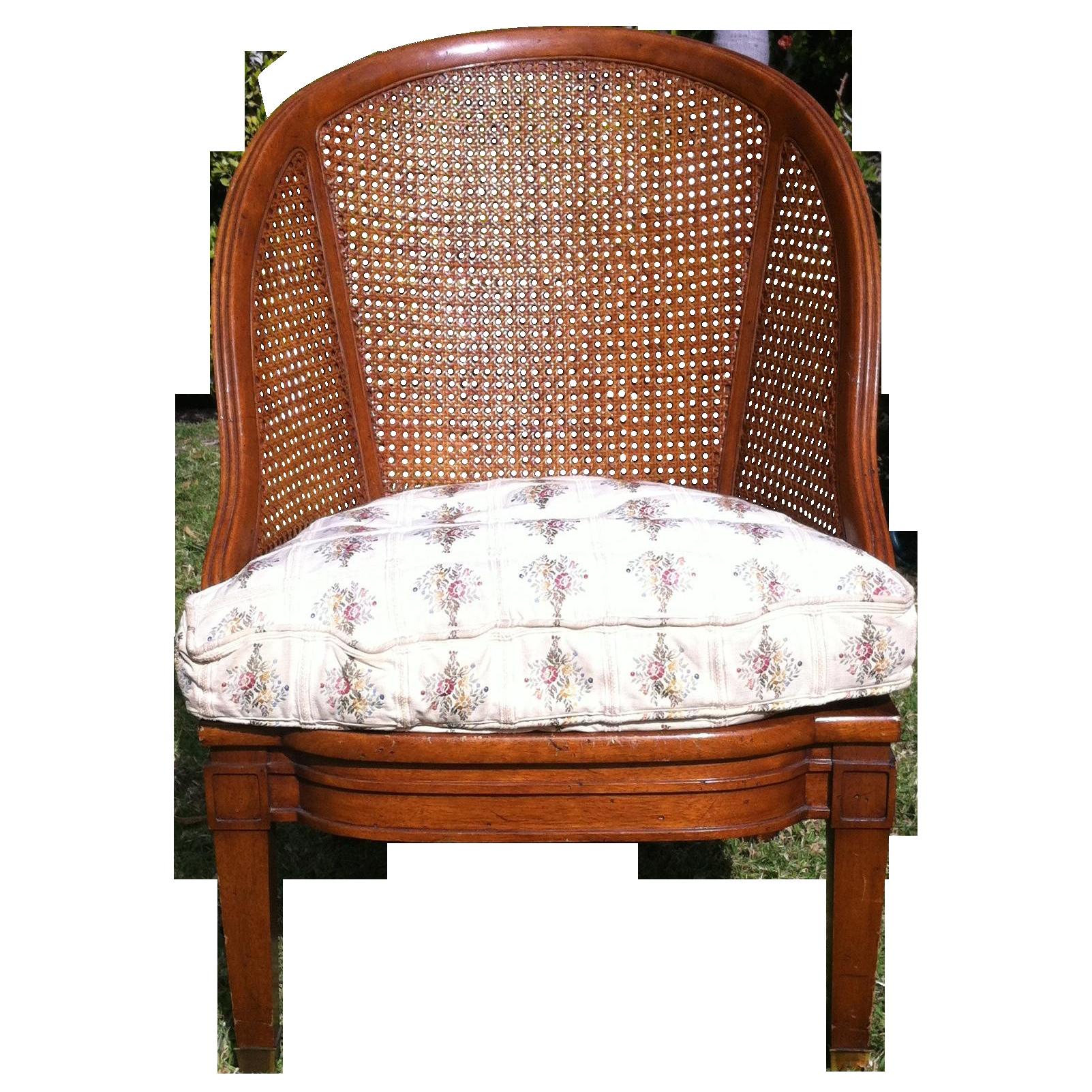 Henredon Schoonbeck Cane Back Barrel Chair