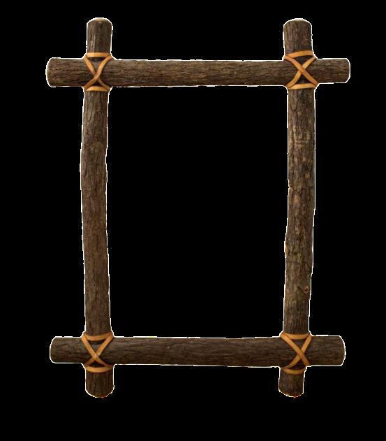 Rustic Ash Log Frame Chairish
