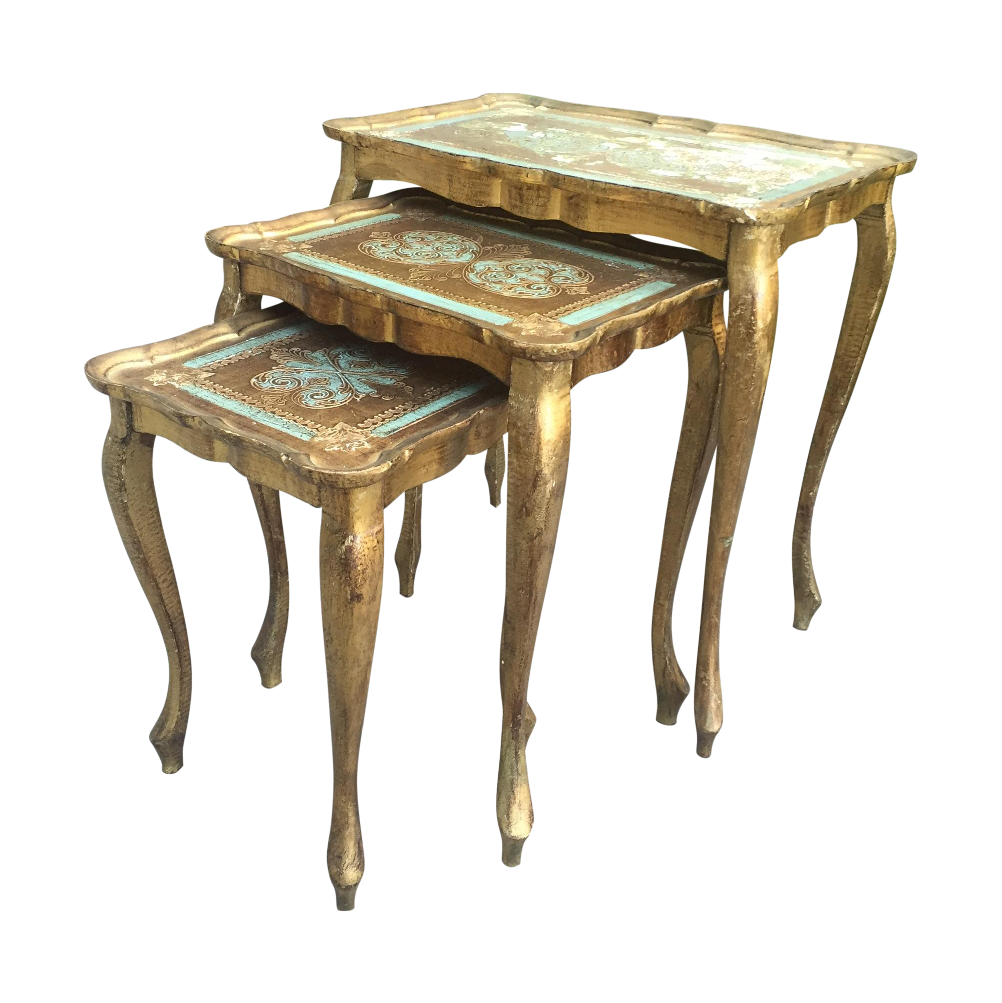 Vintage Florentine Nesting Tables Set Of 3 Chairish