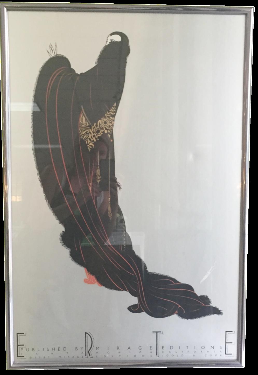 Erte Art Deco Print Chairish