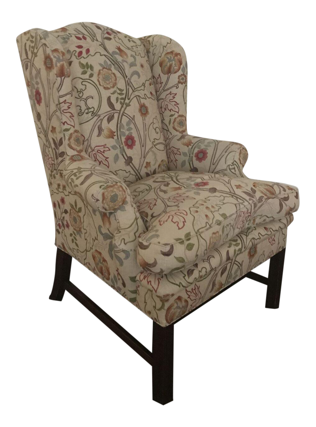 Classic Wing Multi Color Fabric Upholstered Chair Chairish