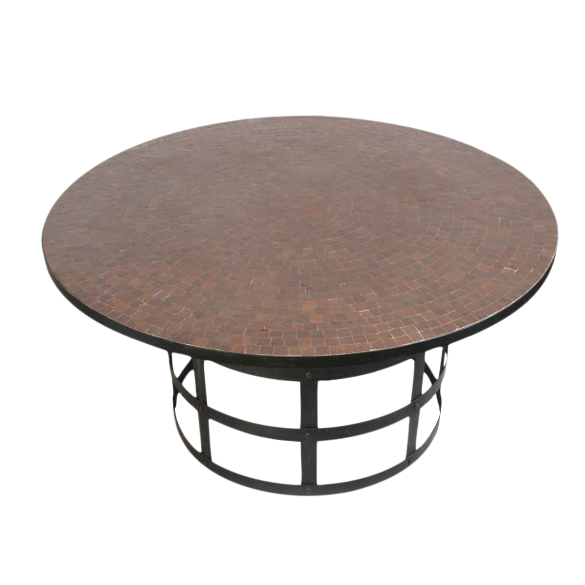 Round Mosaic Tile Dining Table Chairish
