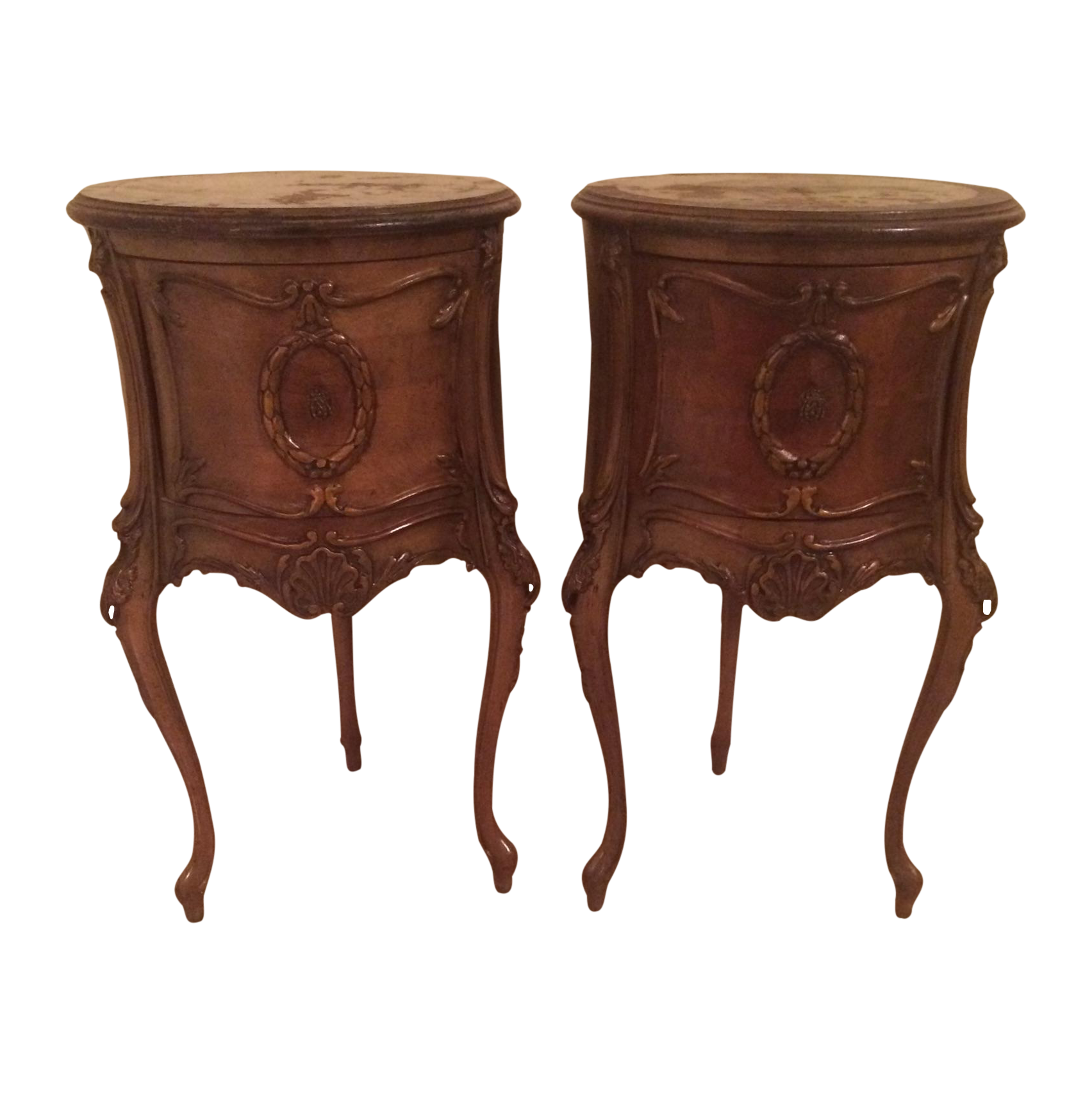 vintage end table antique end tables a pair chairish 3191