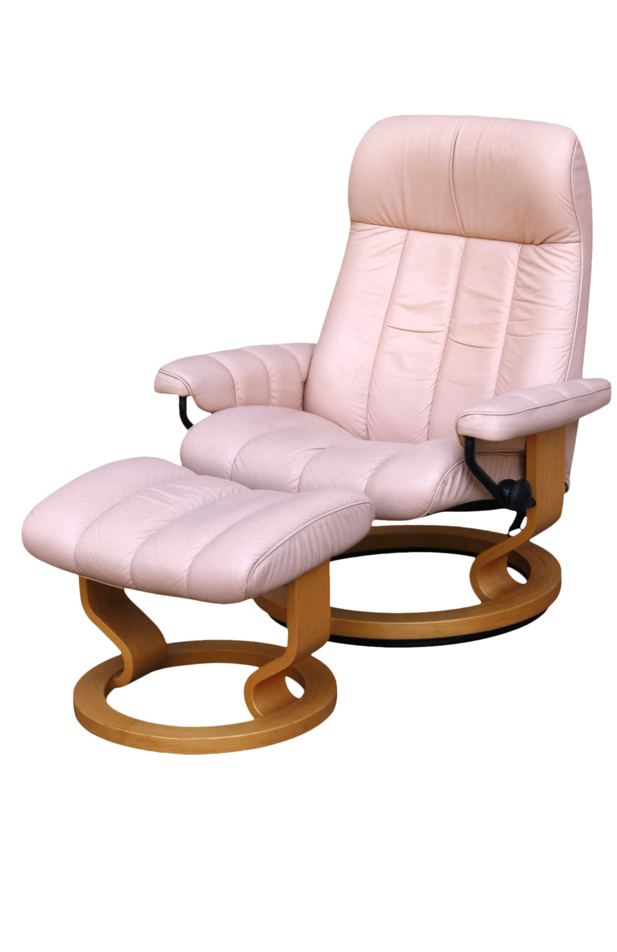 Ekornes Pink Leather Quot Stressless Quot Recliner Amp Ottoman