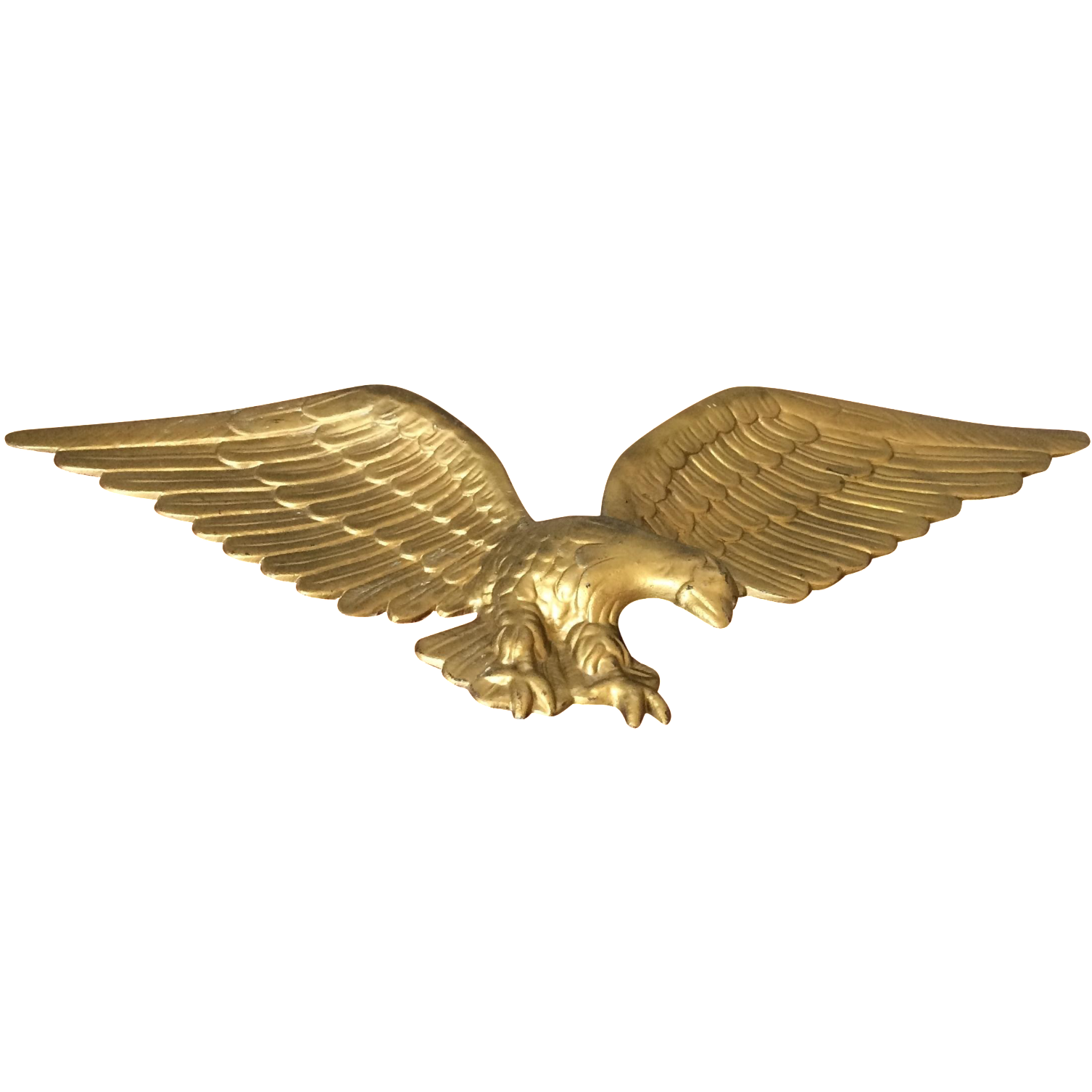 Vintage Gold Metal Eagle Chairish
