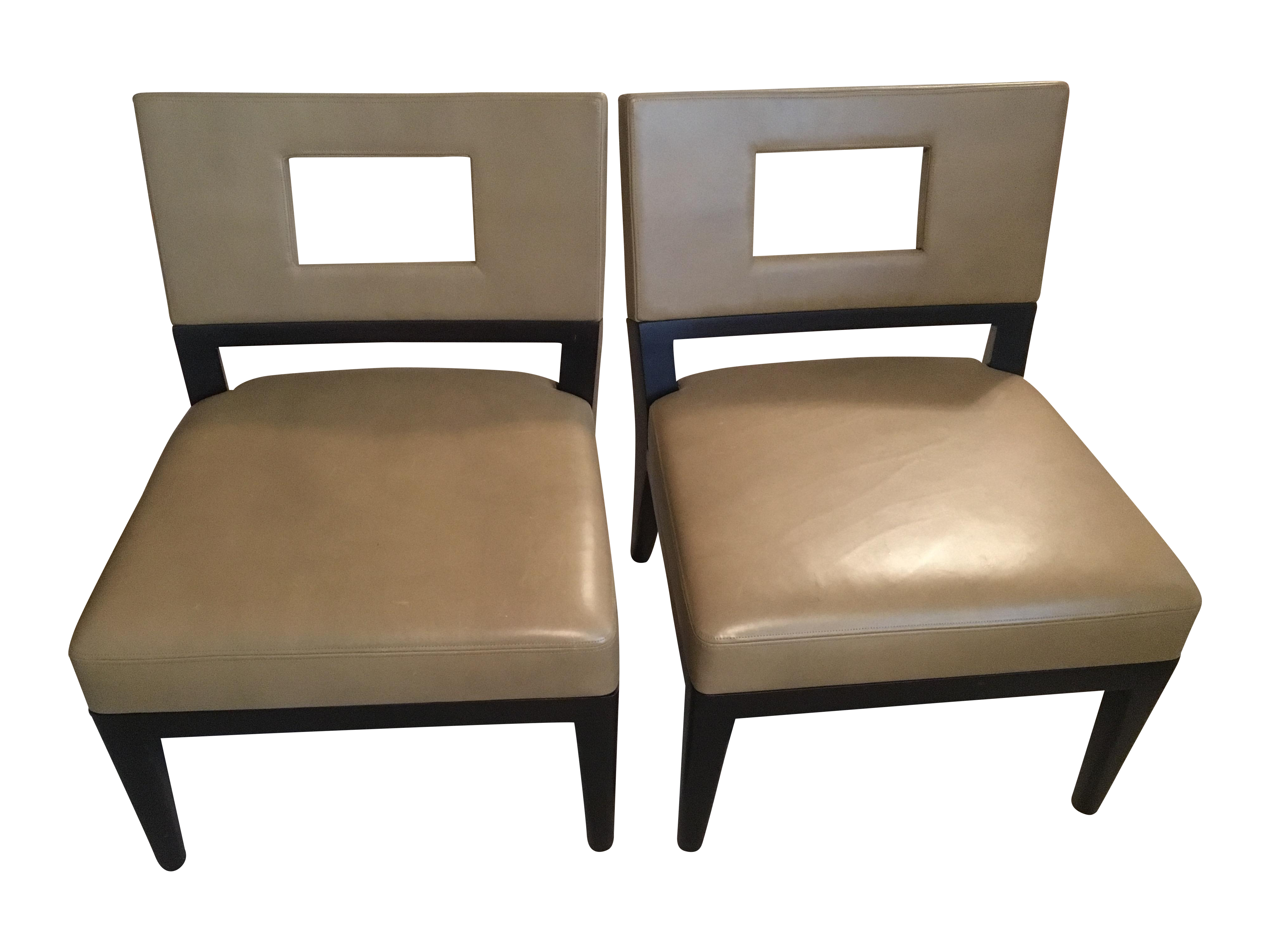 Christian Liaigre for Holly Hunt Chairs A Pair