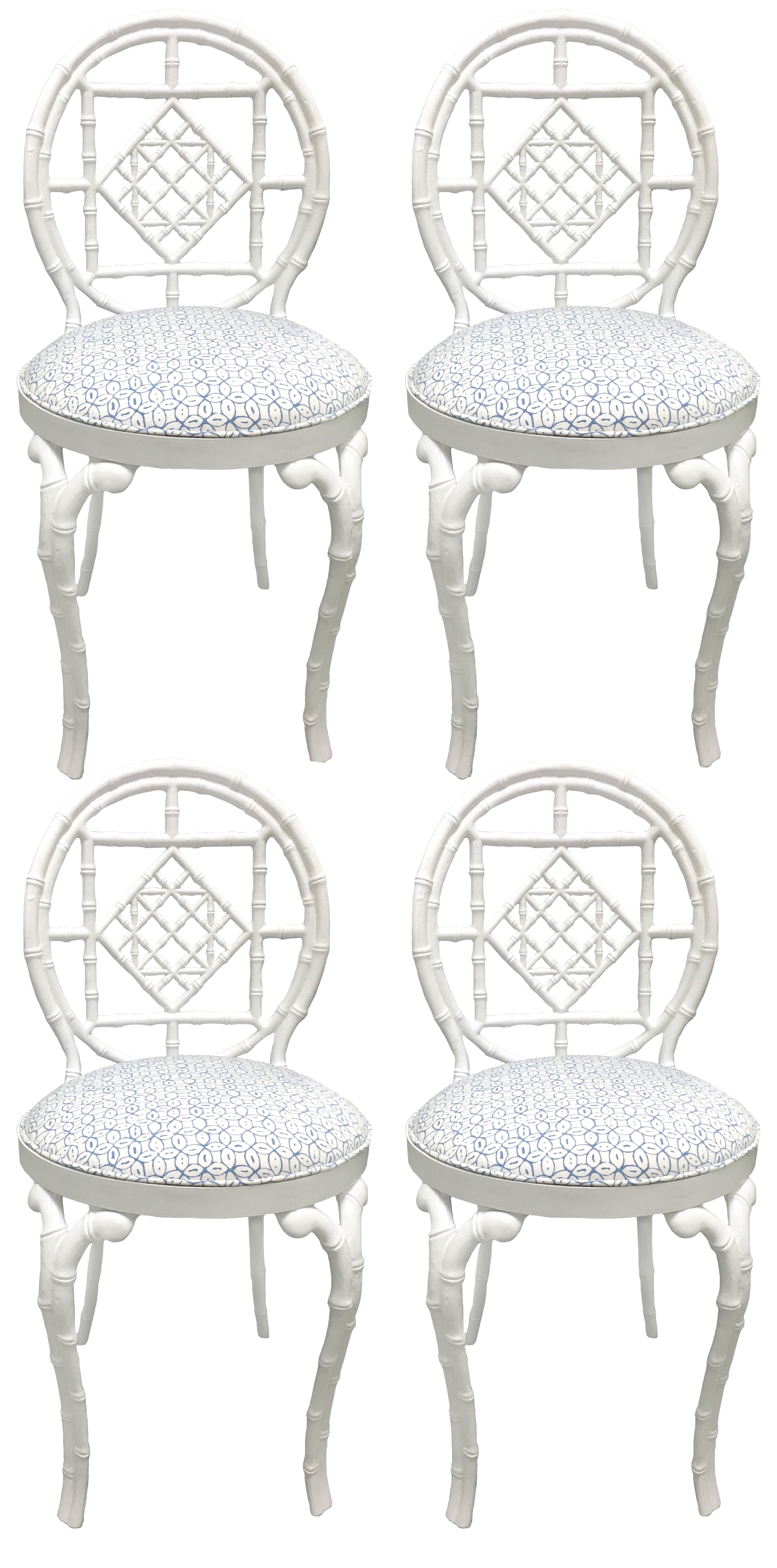 bamboo quadrille upholstered chairs