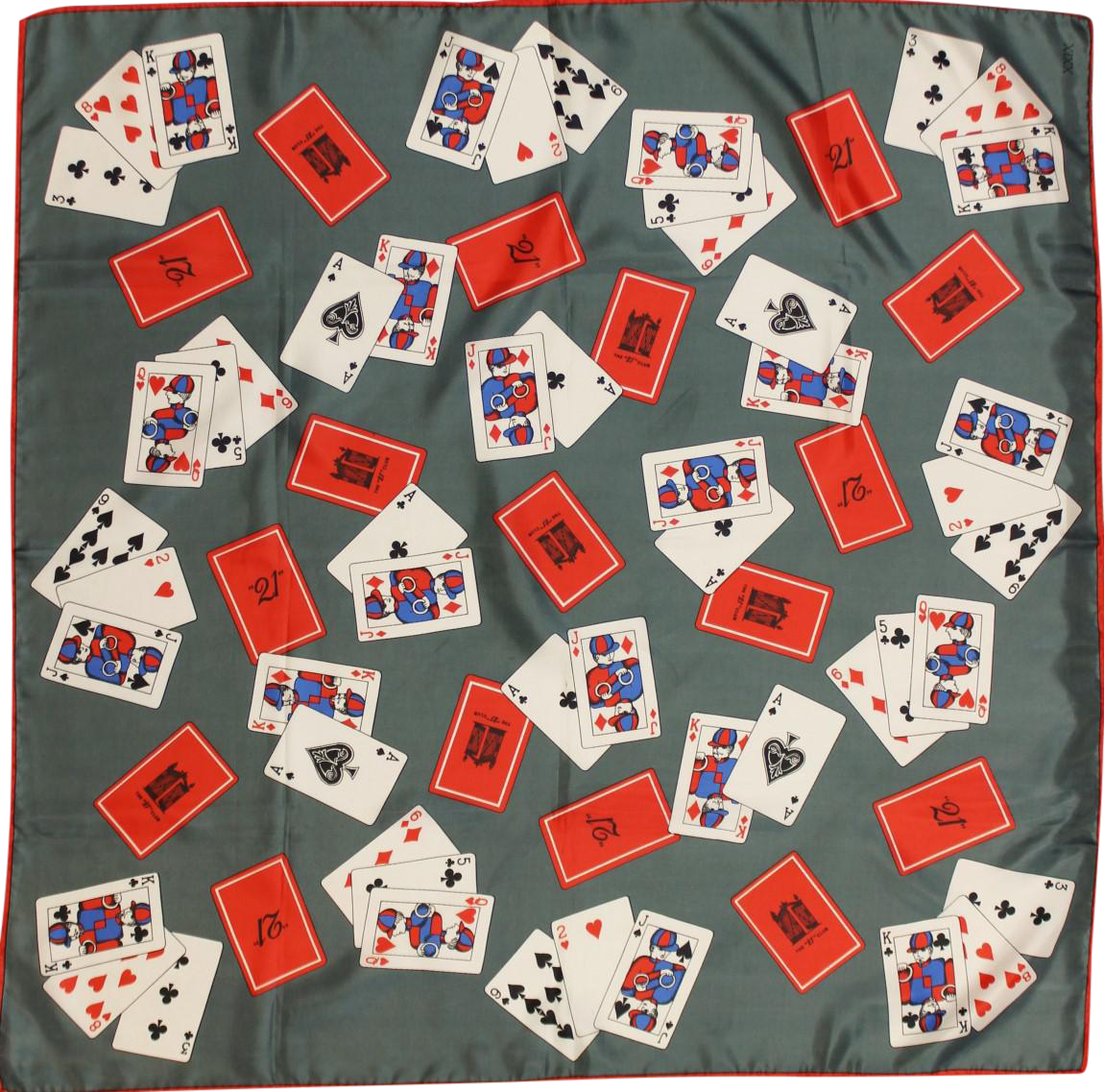 Quot 21 Quot Club Playing Cards Silk Xxix Scarf Chairish
