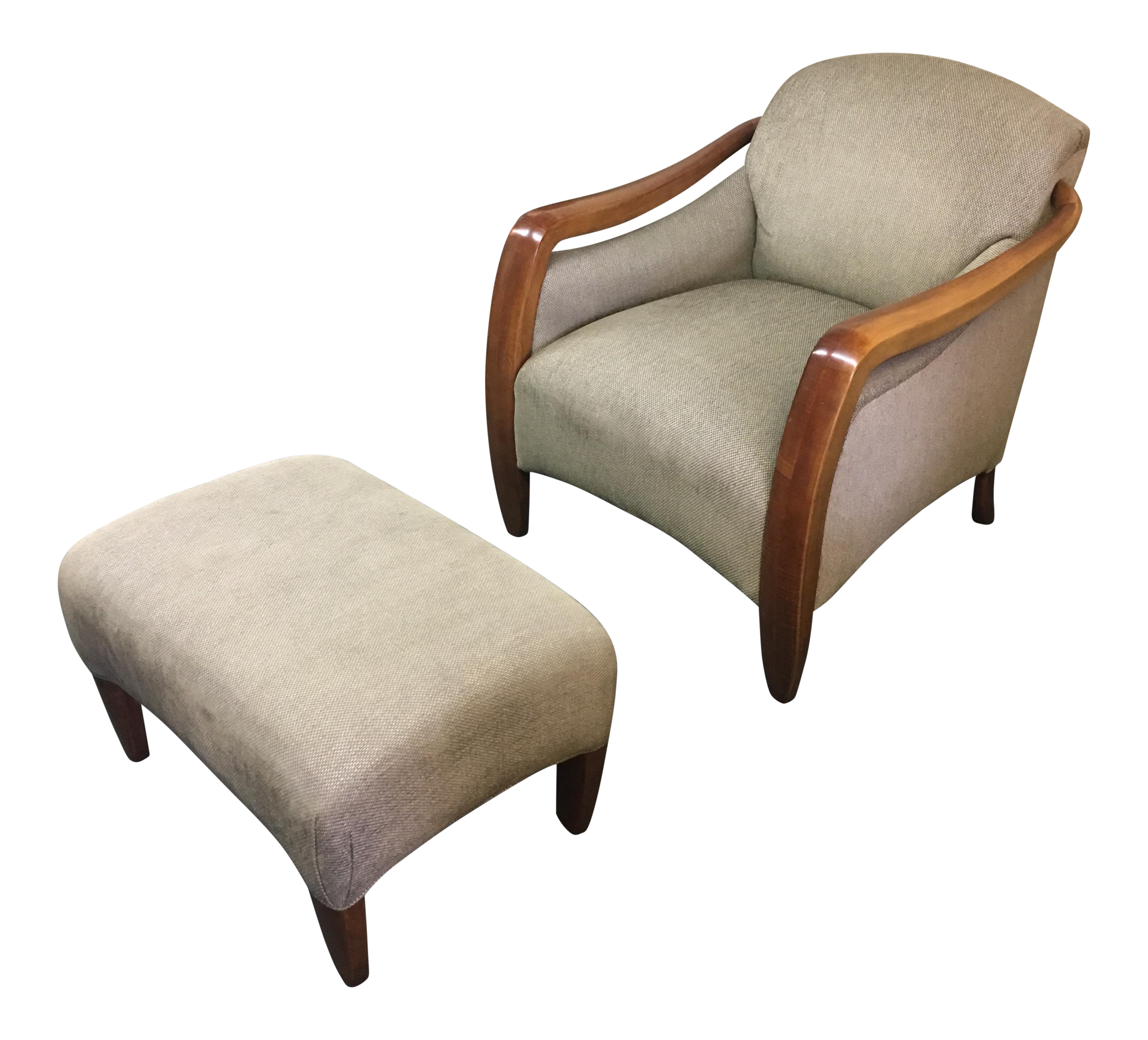 Picasso Arm Chair and Ottoman A Pair