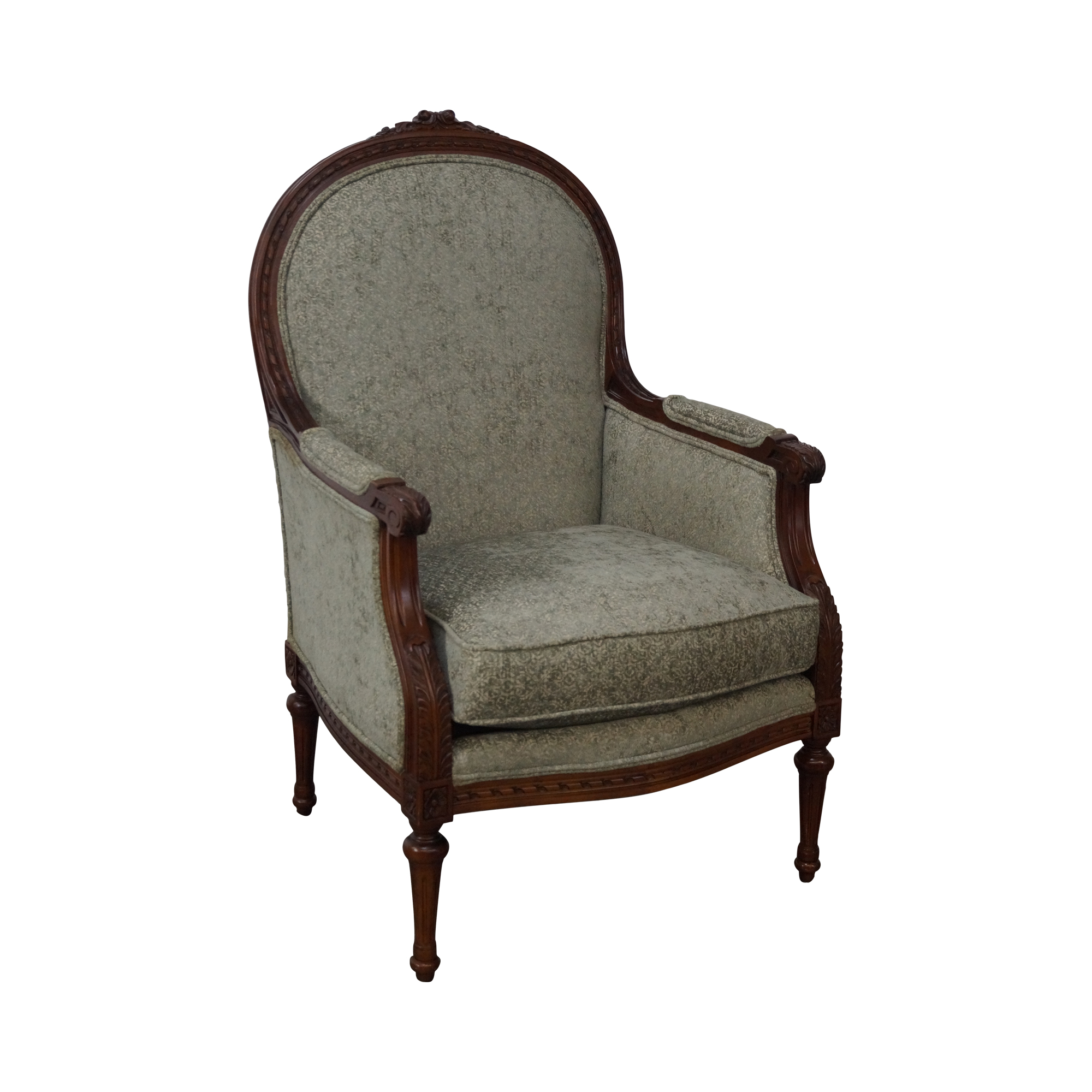 thomasville french louis xvi style bergere chair chairish. Black Bedroom Furniture Sets. Home Design Ideas