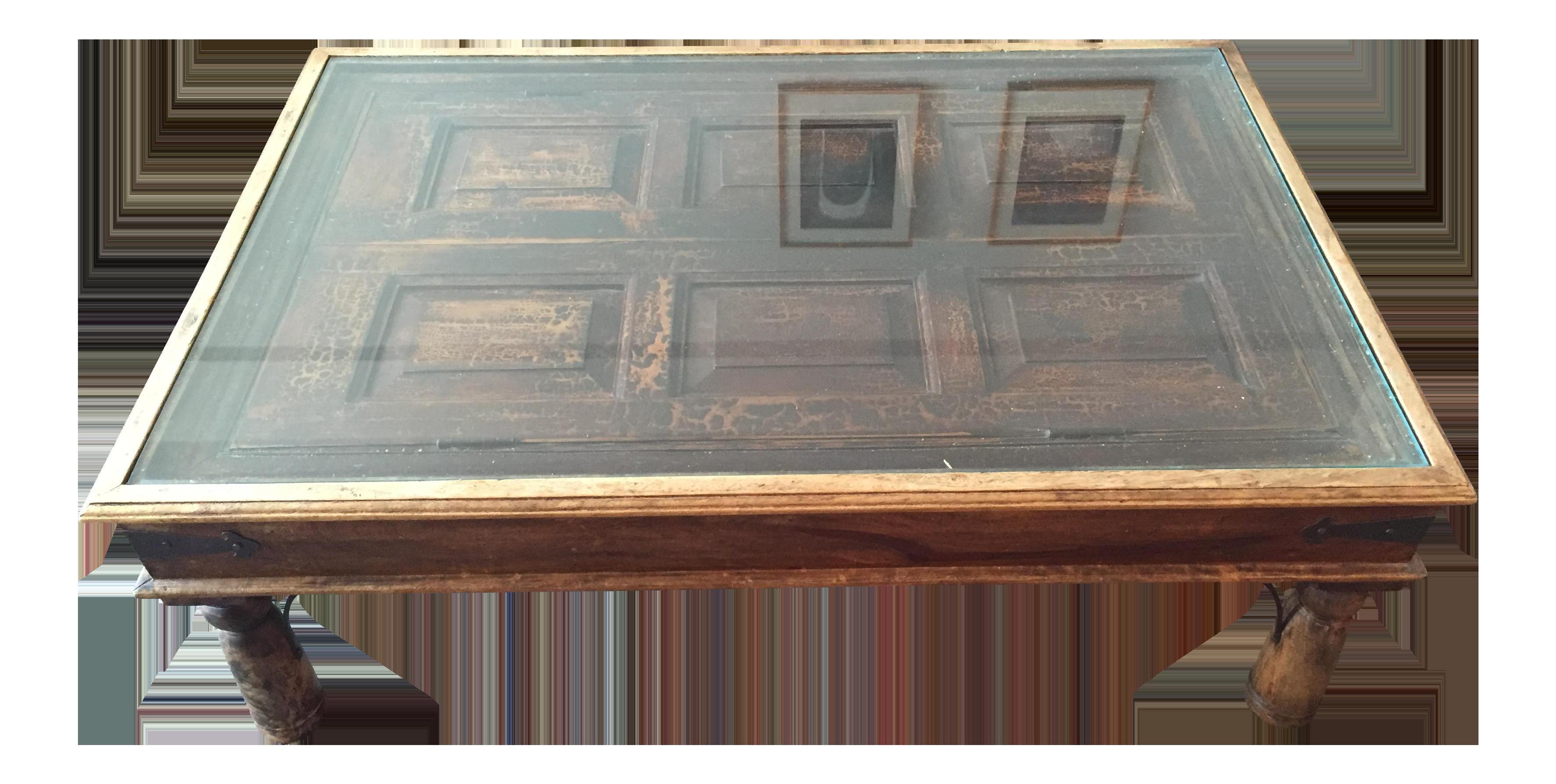 Handmade Wooden Door Coffee Table Chairish