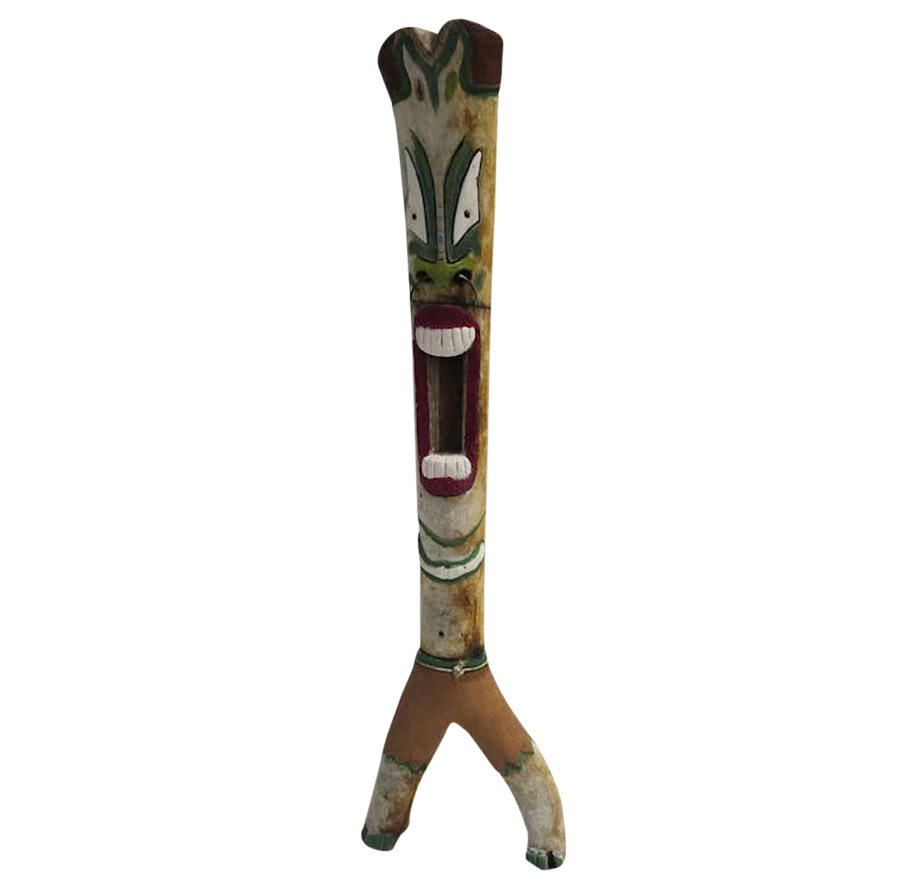 Massive Folk Art Joshua Tree Painted Tiki Totem Chairish
