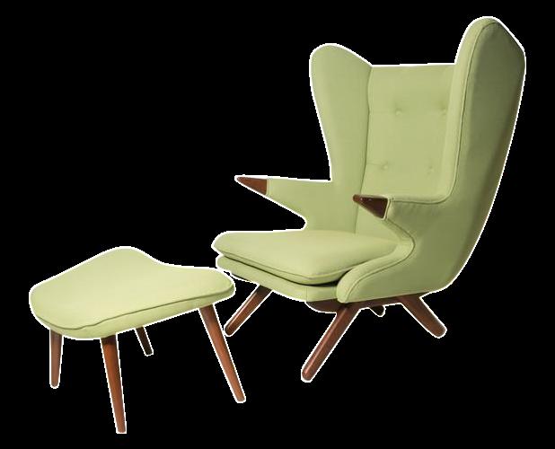 Model 91 Papa Bear Chair Amp Ottoman By Svend Skippe Chairish