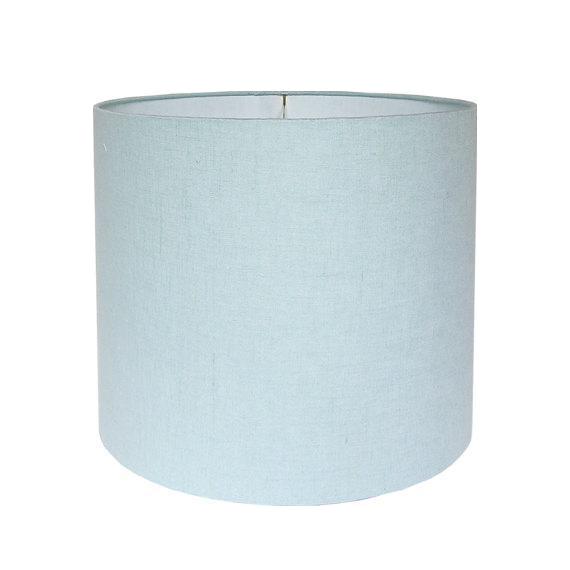 Robin S Egg Blue Linen Drum Lamp Shade Chairish