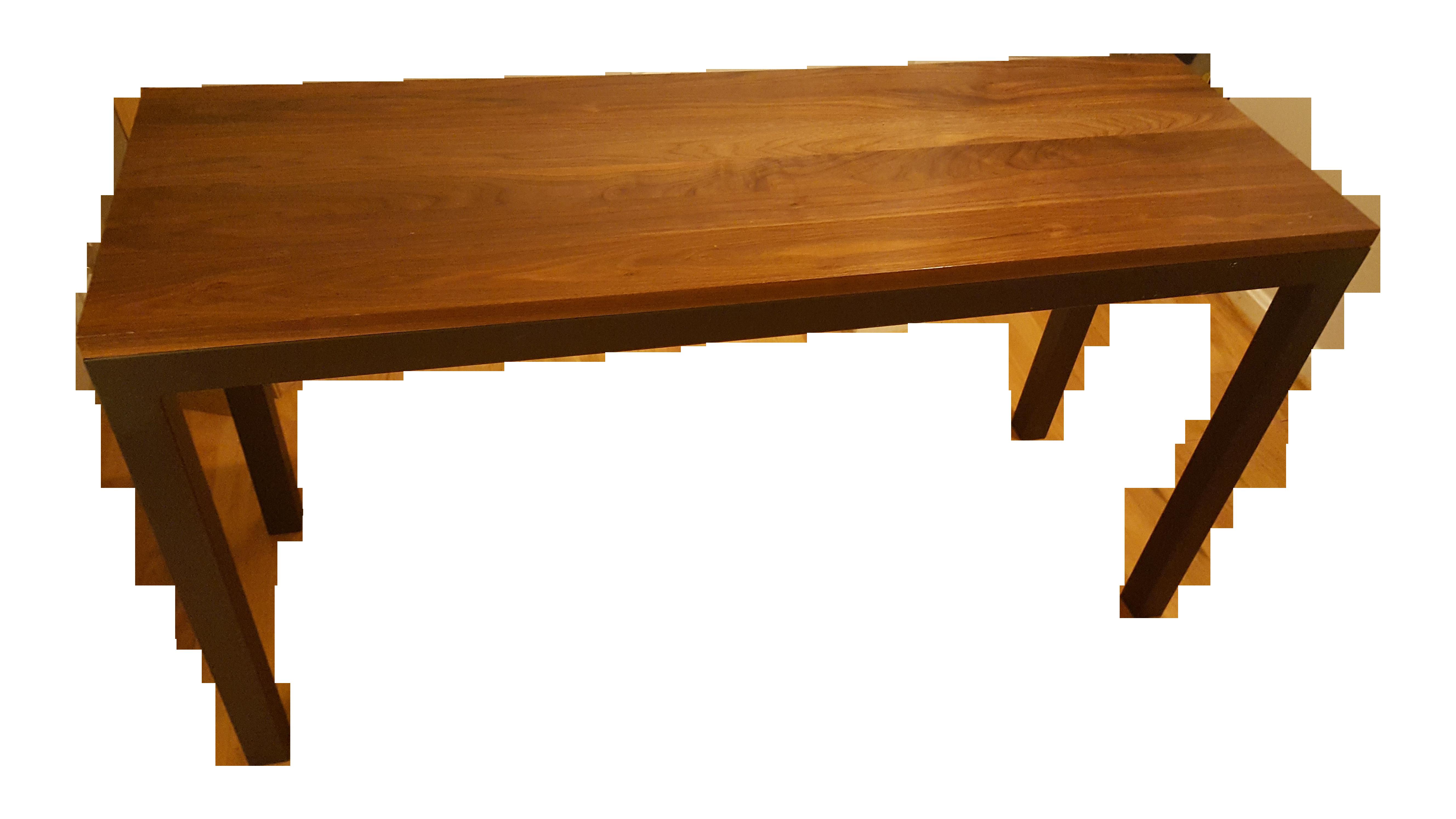 Room And Board Coffee Tables Room Board Parsons Desk In Walnut Black Steel Chairish
