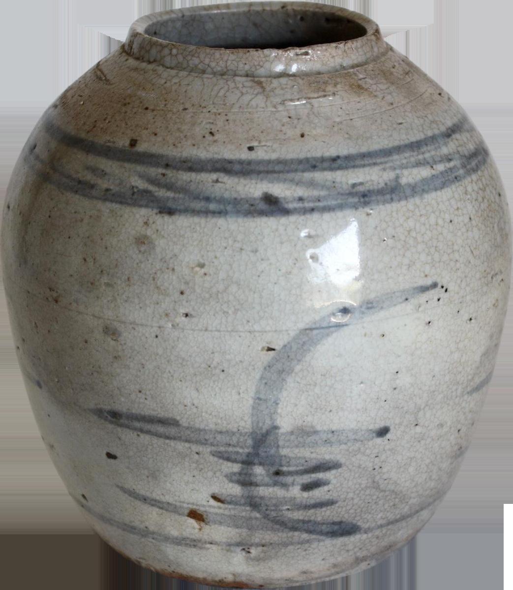 18th c chinese stoneware ginger jar chairish