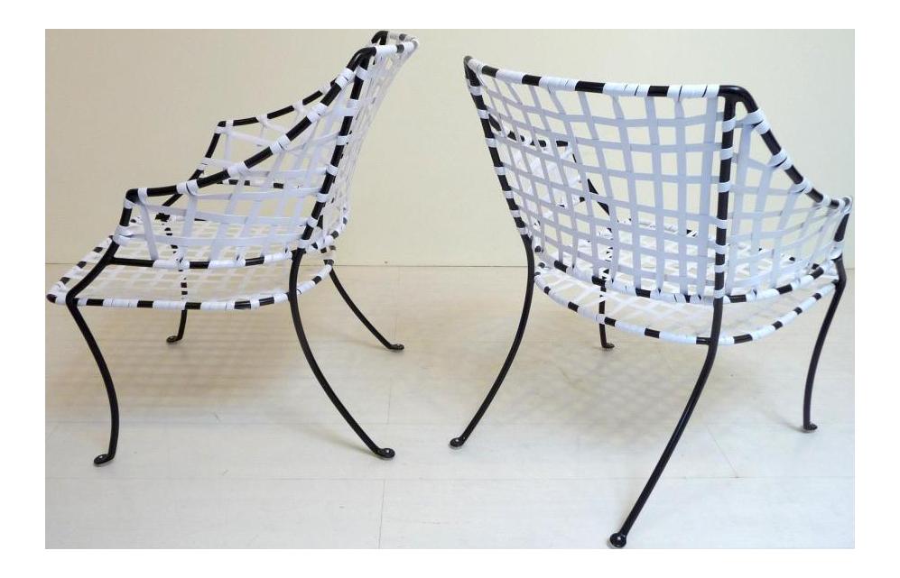 Brown Jordan Patio Chairs Mid Century Modern A Pair