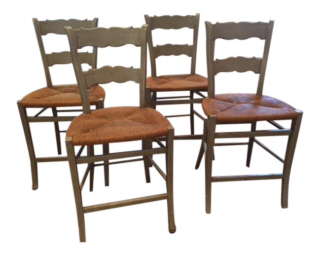 Minton Spidell French Rush Seat Counter Stools Set Of 4