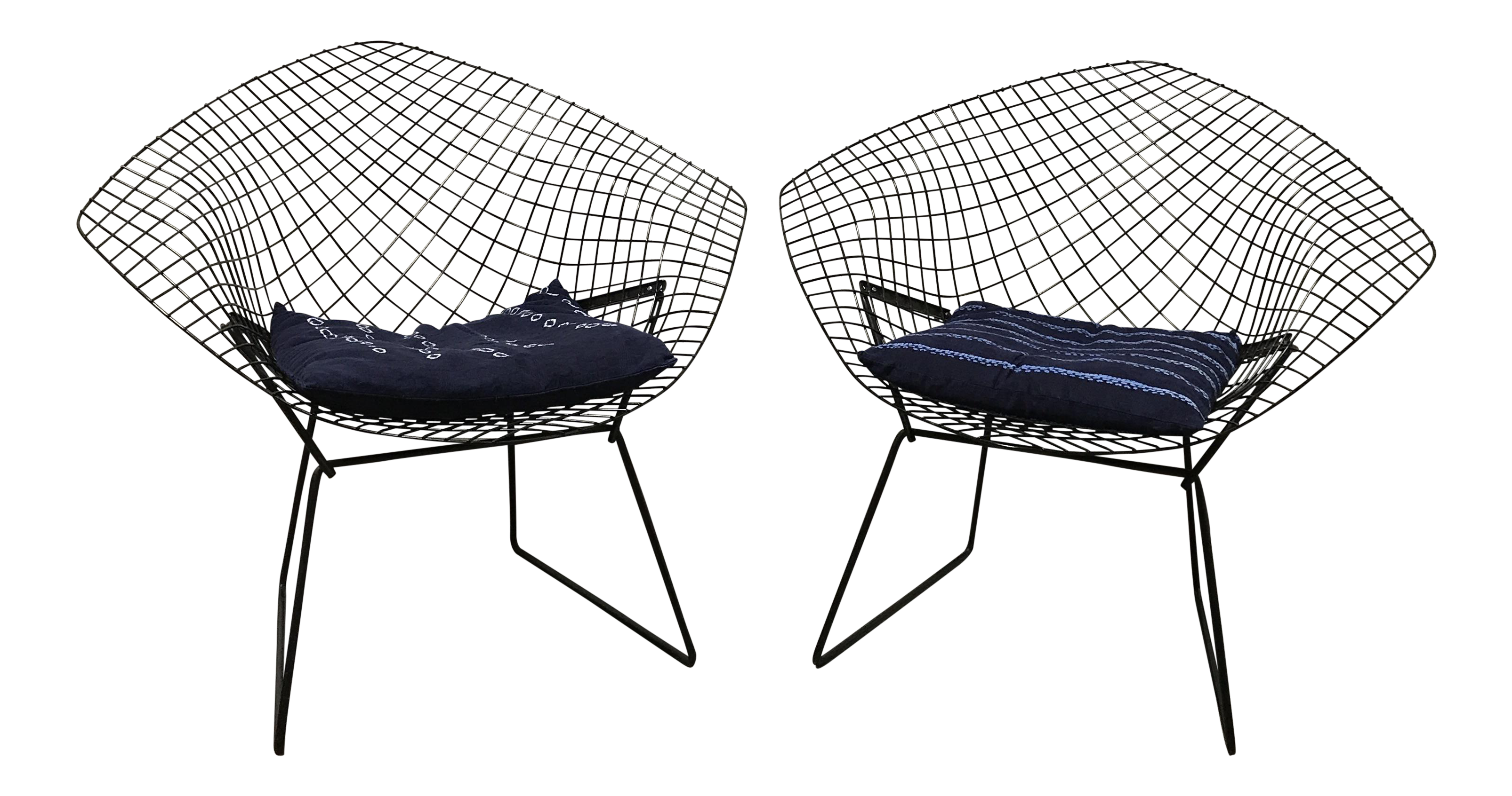Harry Bertoia for Knoll Diamond Chairs A Pair