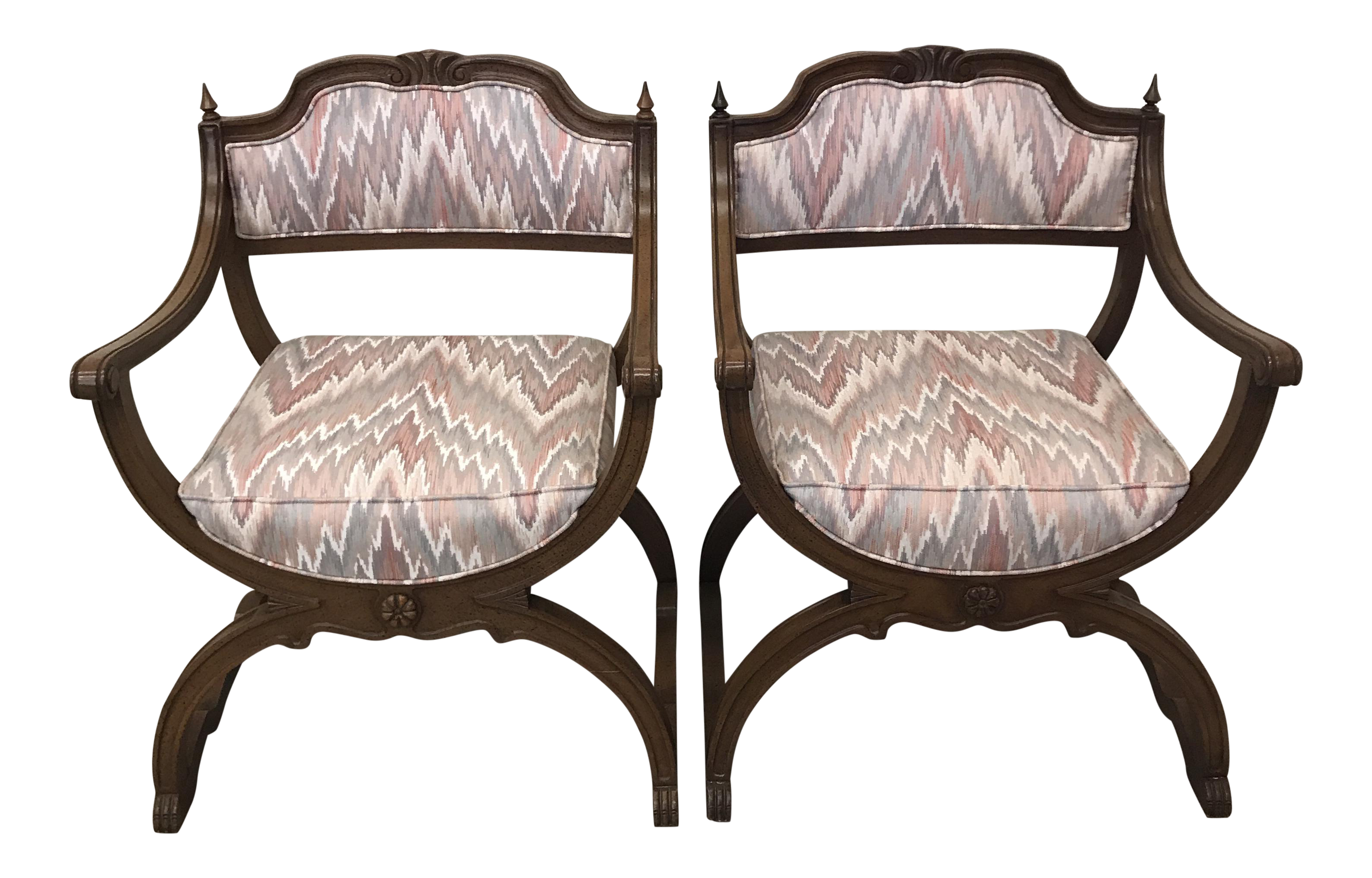 Moroccan Boho Style Peacock Chairs A Pair Chairish