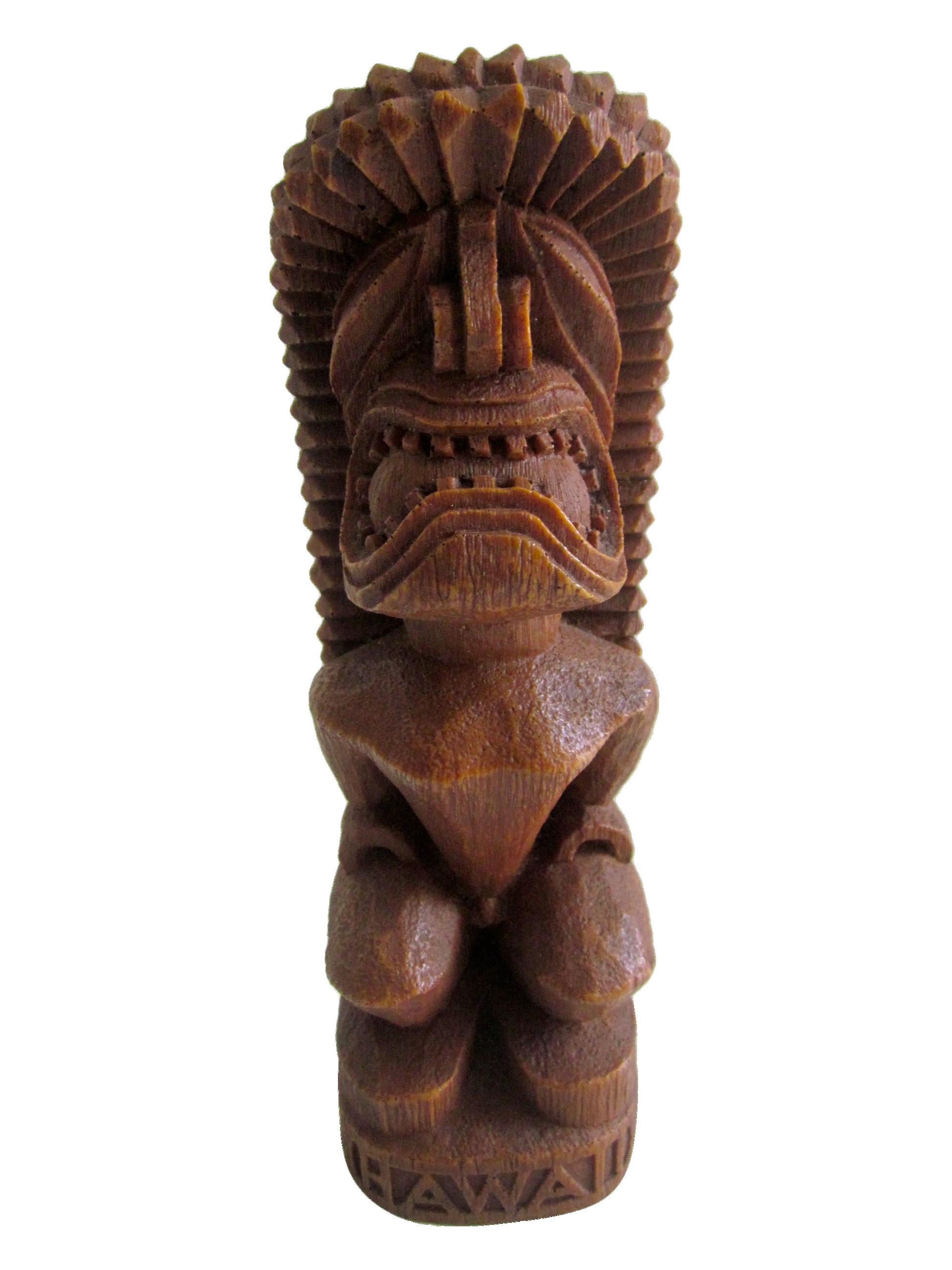 Huge Wood Wooden Tiki Statue Chairish