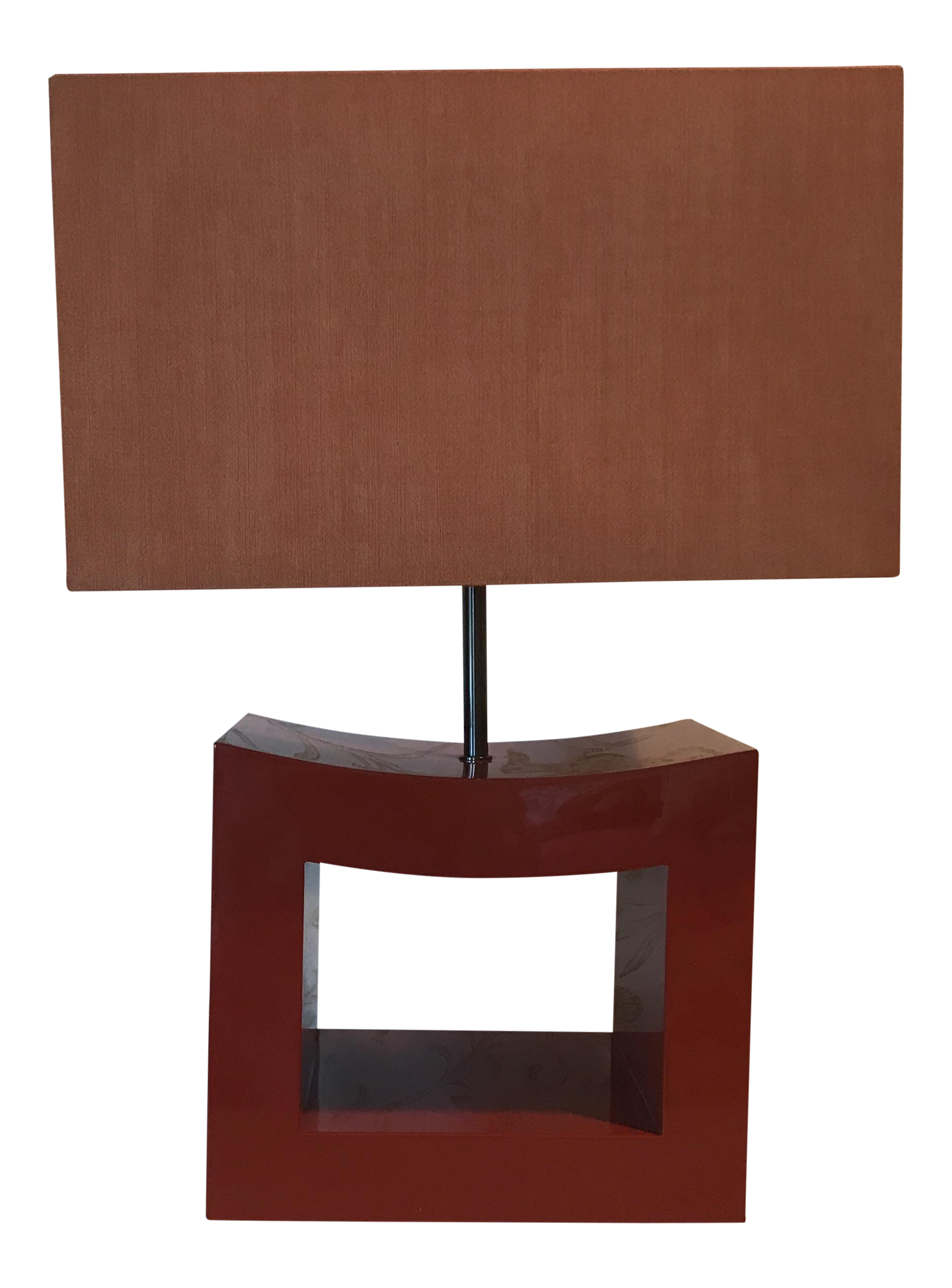 Vintage used asian table lamps chairish armani casa orange lacquer lamp geotapseo Image collections