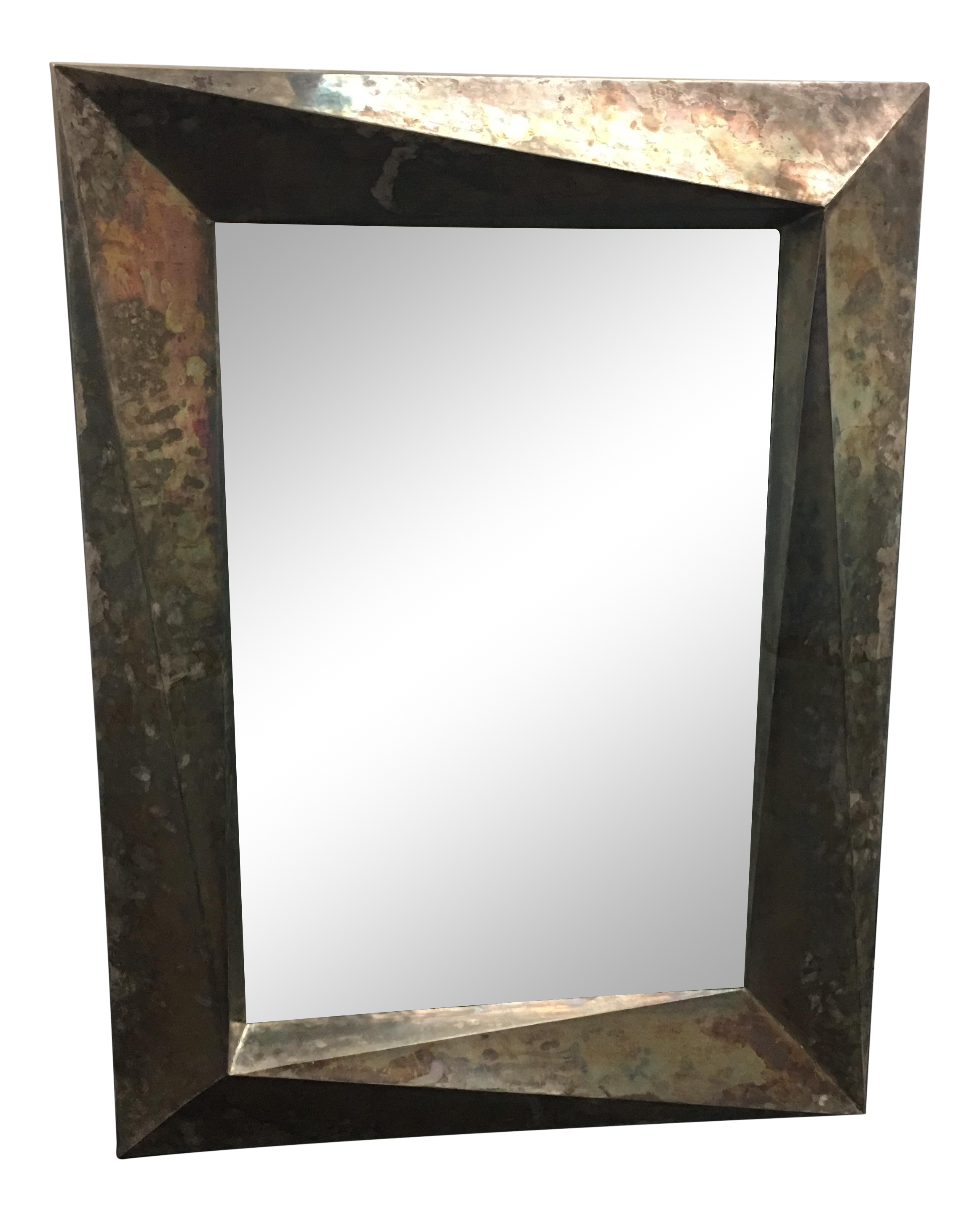 Mcguire Robert Kuo Helix Wall Mirror Chairish