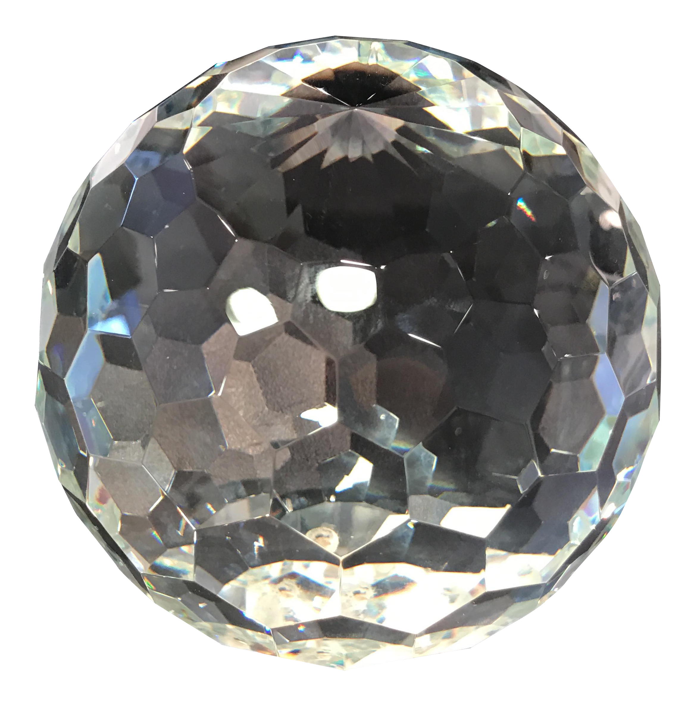 Cut Crystal Ball Paperweight Chairish
