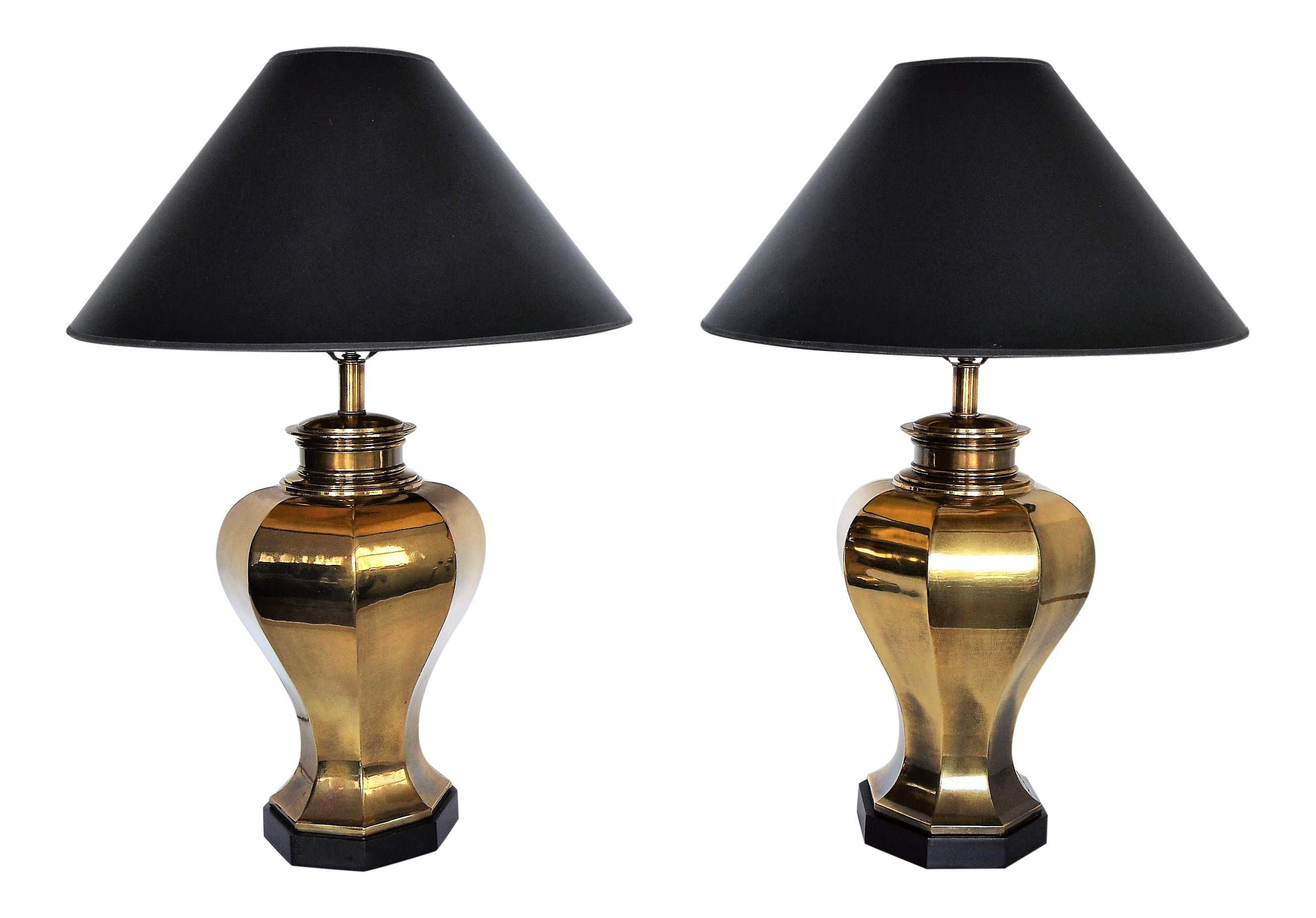 Large vintage brass mid century modern table lamps by chapman lamp large vintage brass mid century modern table lamps by chapman lamp company a pair millennial chairish geotapseo Image collections
