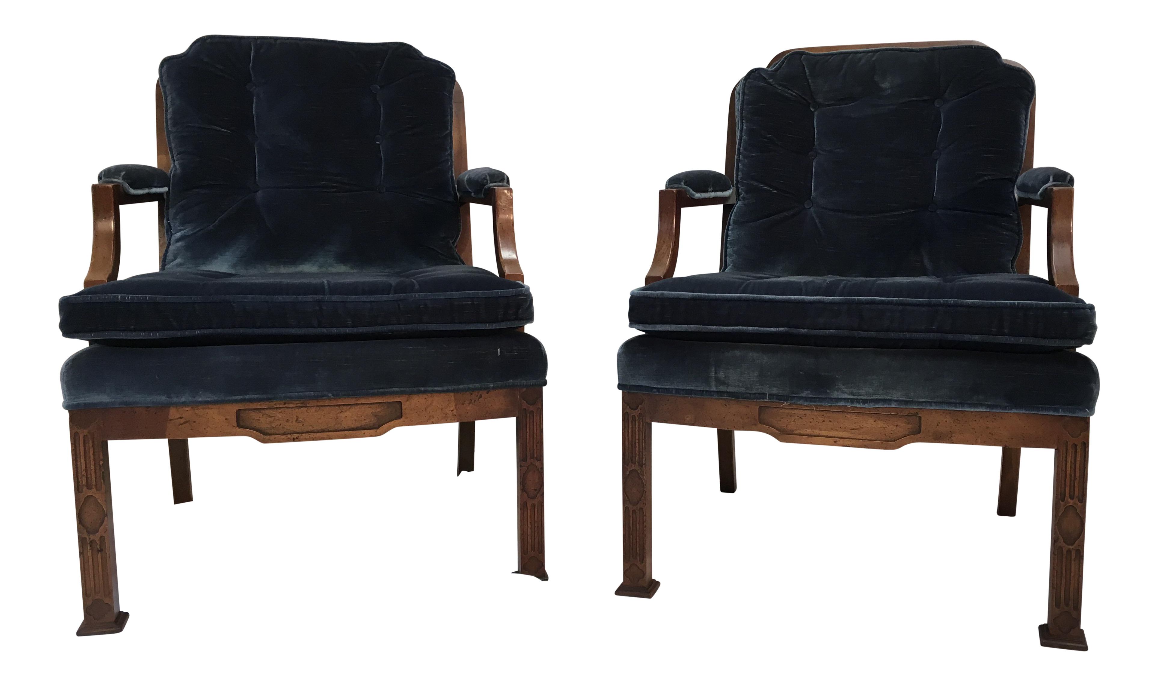 Erwin Lambeth Chinese Chippendale Style Armchairs A Pair