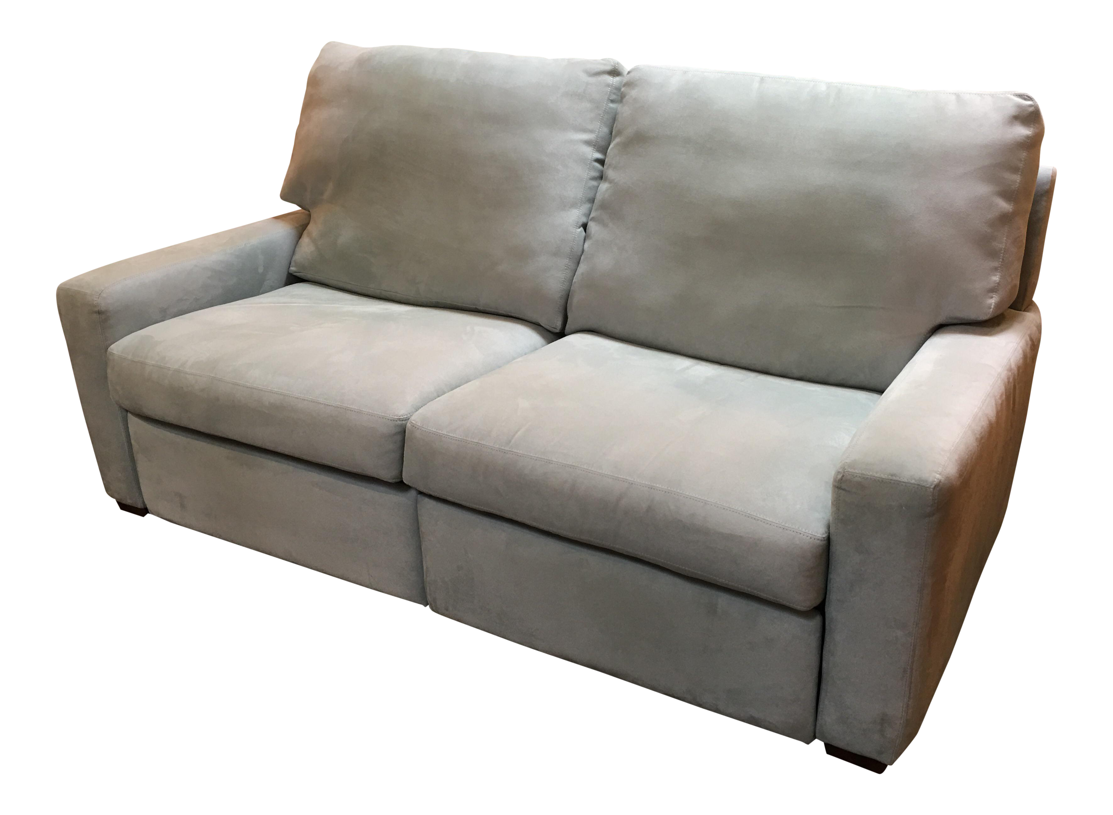 American Leather Microsuede Loveseat Chairish