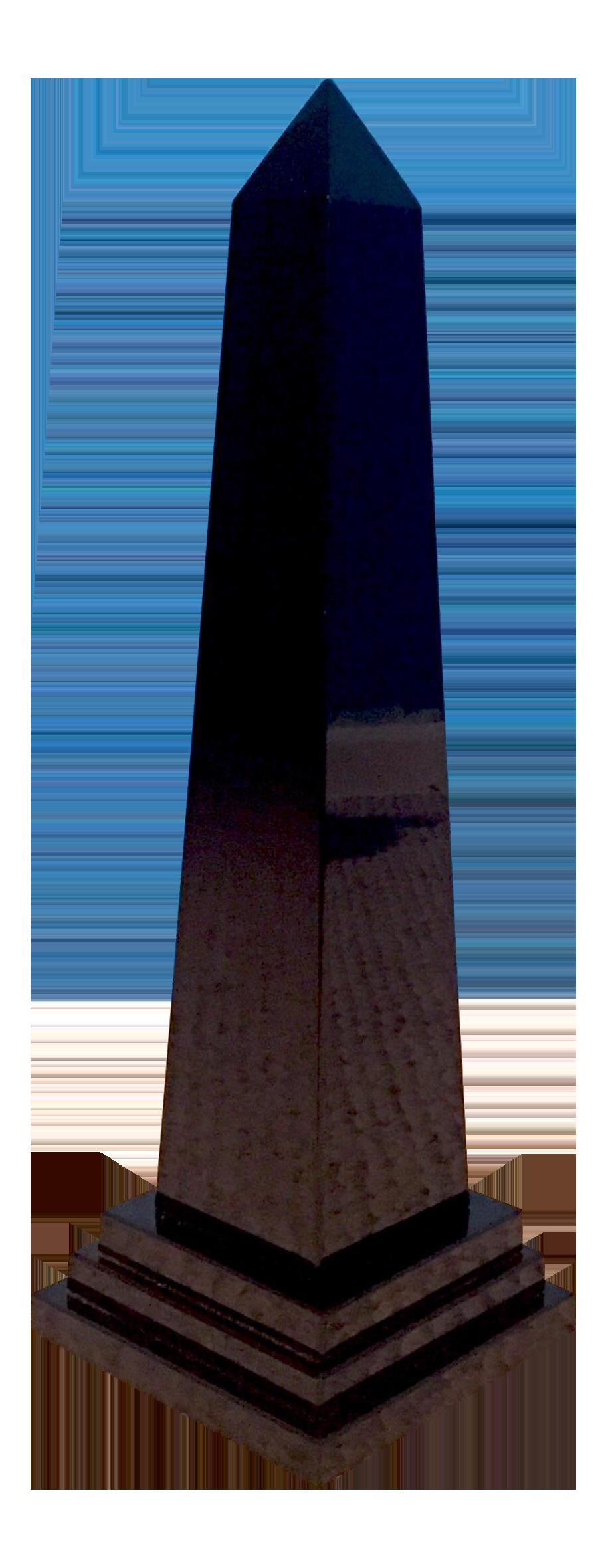 Polished Black Obelisk Chairish
