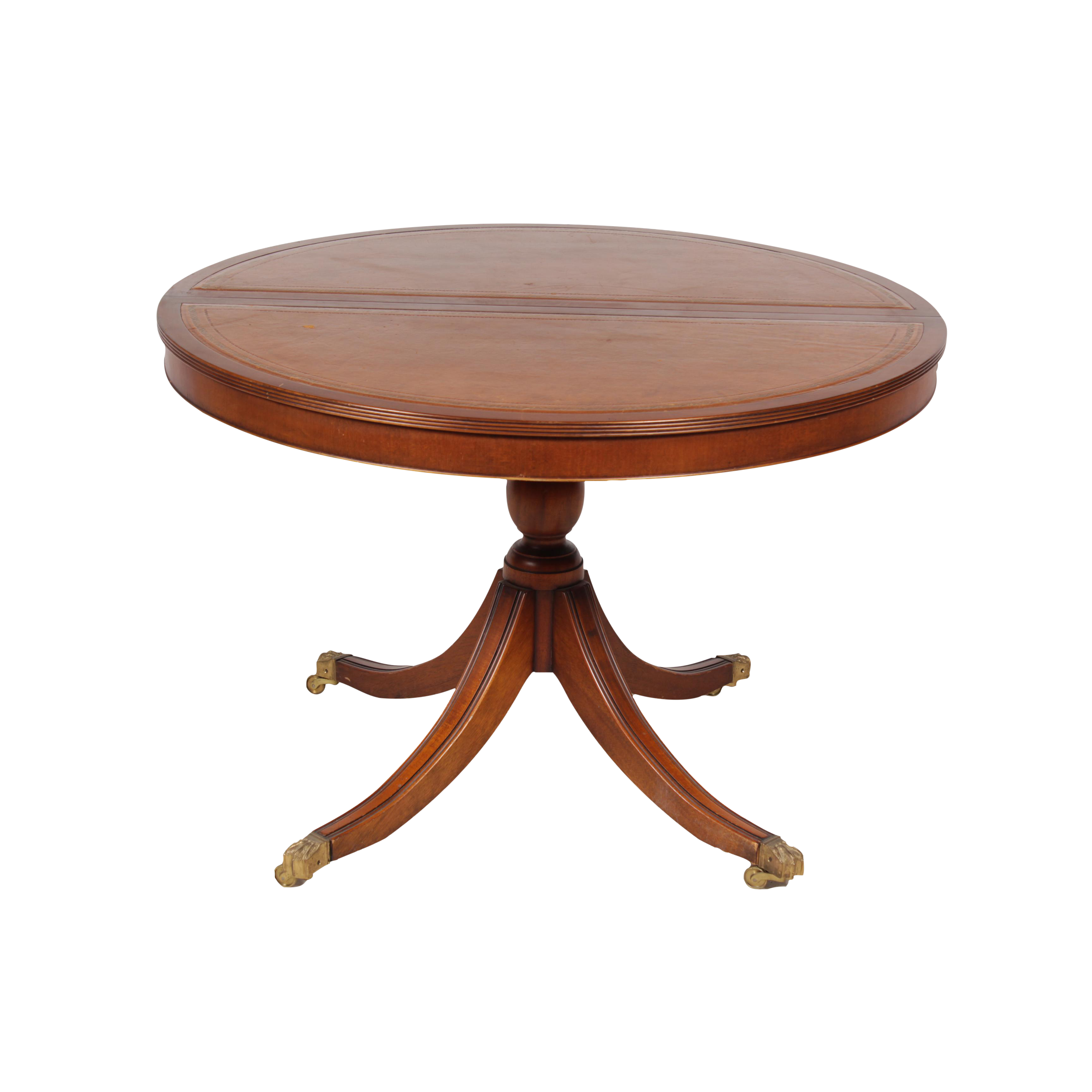 Duncan Storage Coffee Table: Duncan Phyfe Neoclassical Style Table