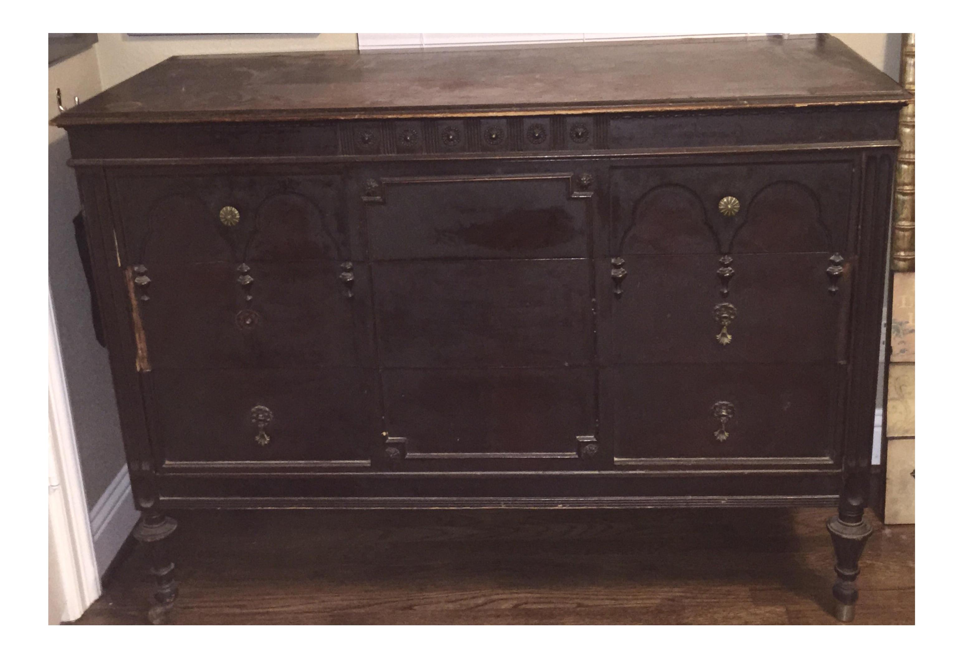 1920s Vintage Sligh Furniture Company Buffet Chairish