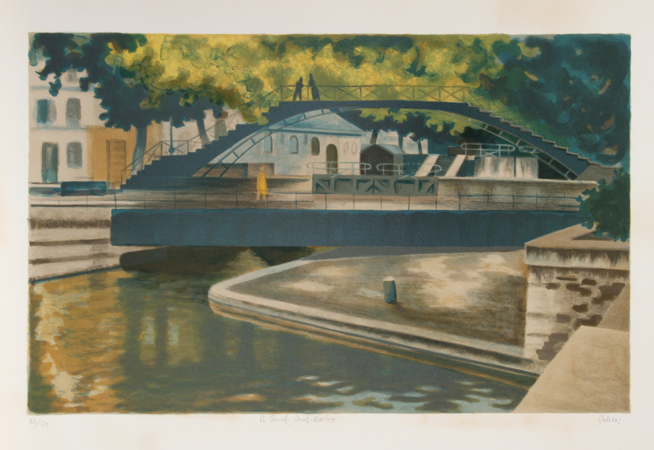 Laurent marcel salinas canal lithograph chairish for Furniture 4 less salinas