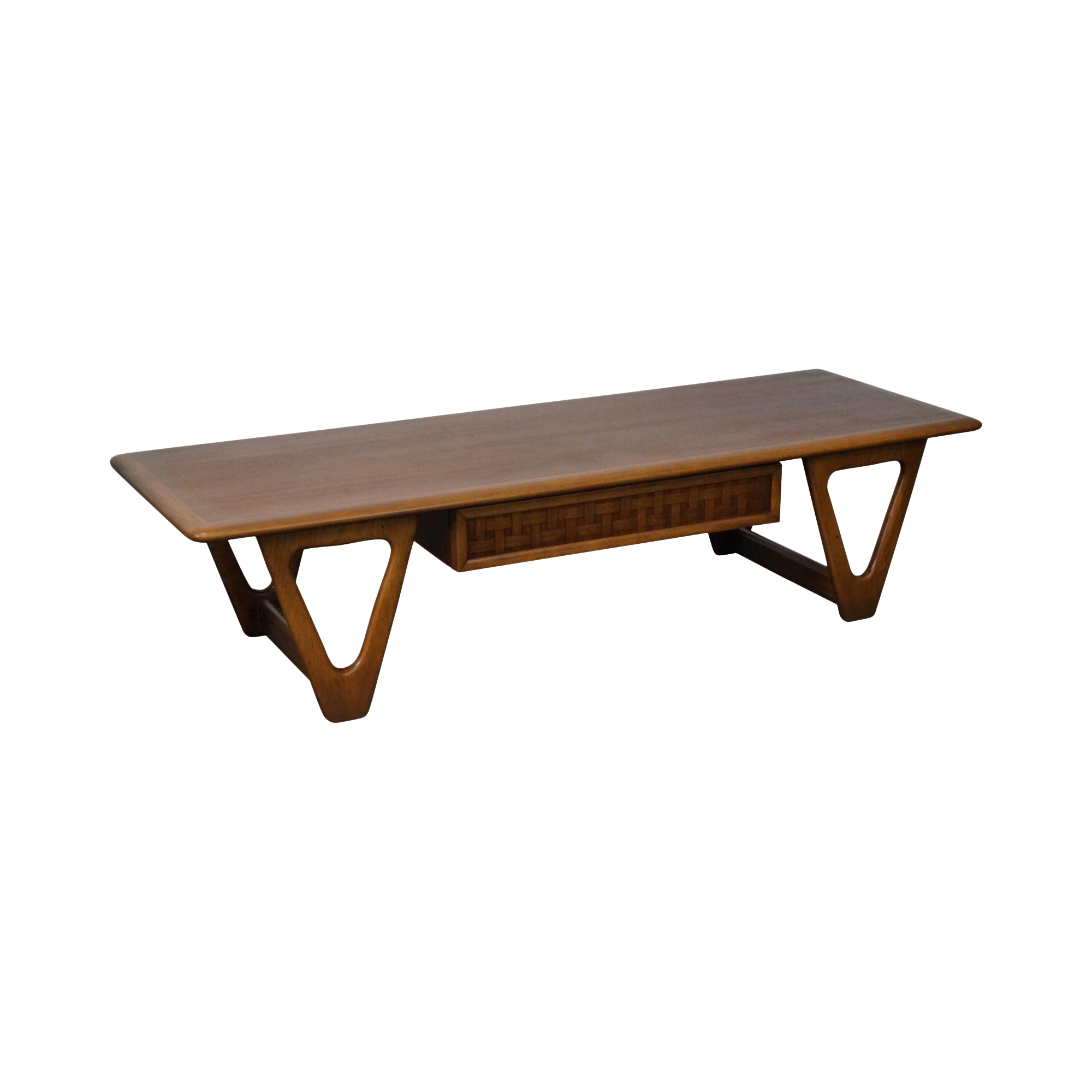 Lane Quot Perspective Quot Mid Century Walnut V Base Coffee Table