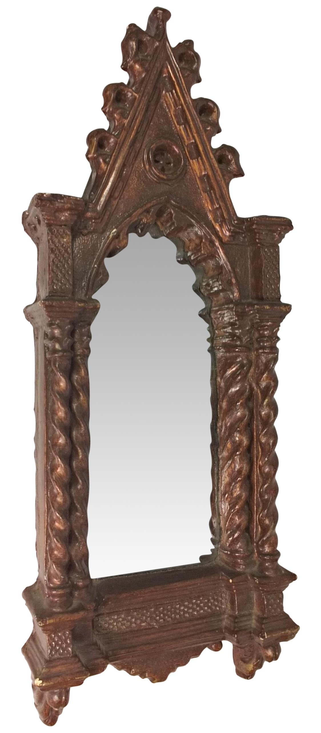 Antique gothic cathedral style wall mirror chairish amipublicfo Gallery
