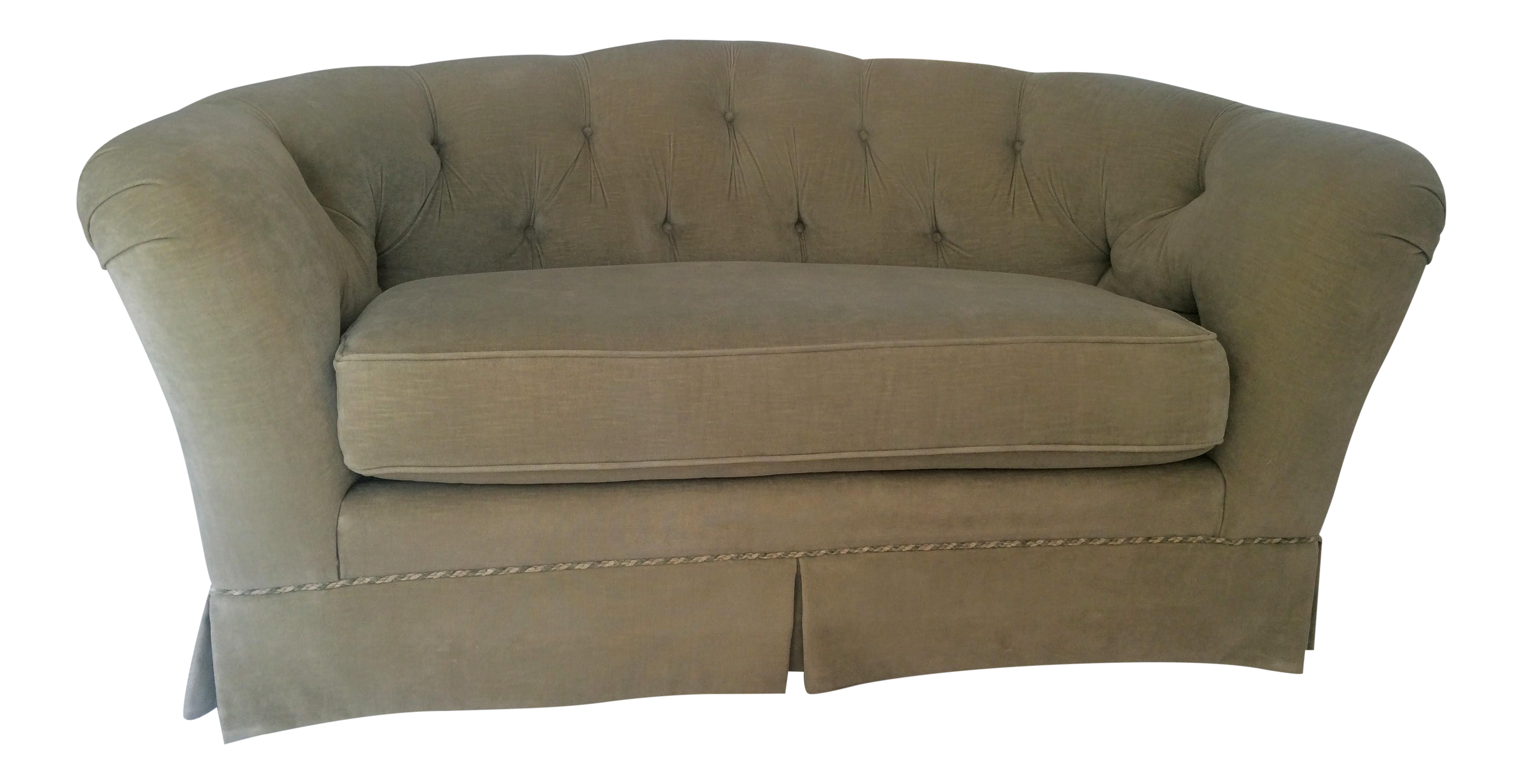 Ethan Allen Tufted Back Loveseat Chairish